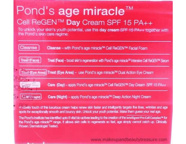Pond's Age Miracle Cell Regen Spf 15 Pa Day Cream 50 Gm