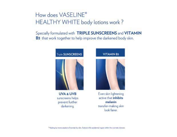 Vaseline Healthy White Body Lotion, Triple Lightening Spf 24 300 Ml