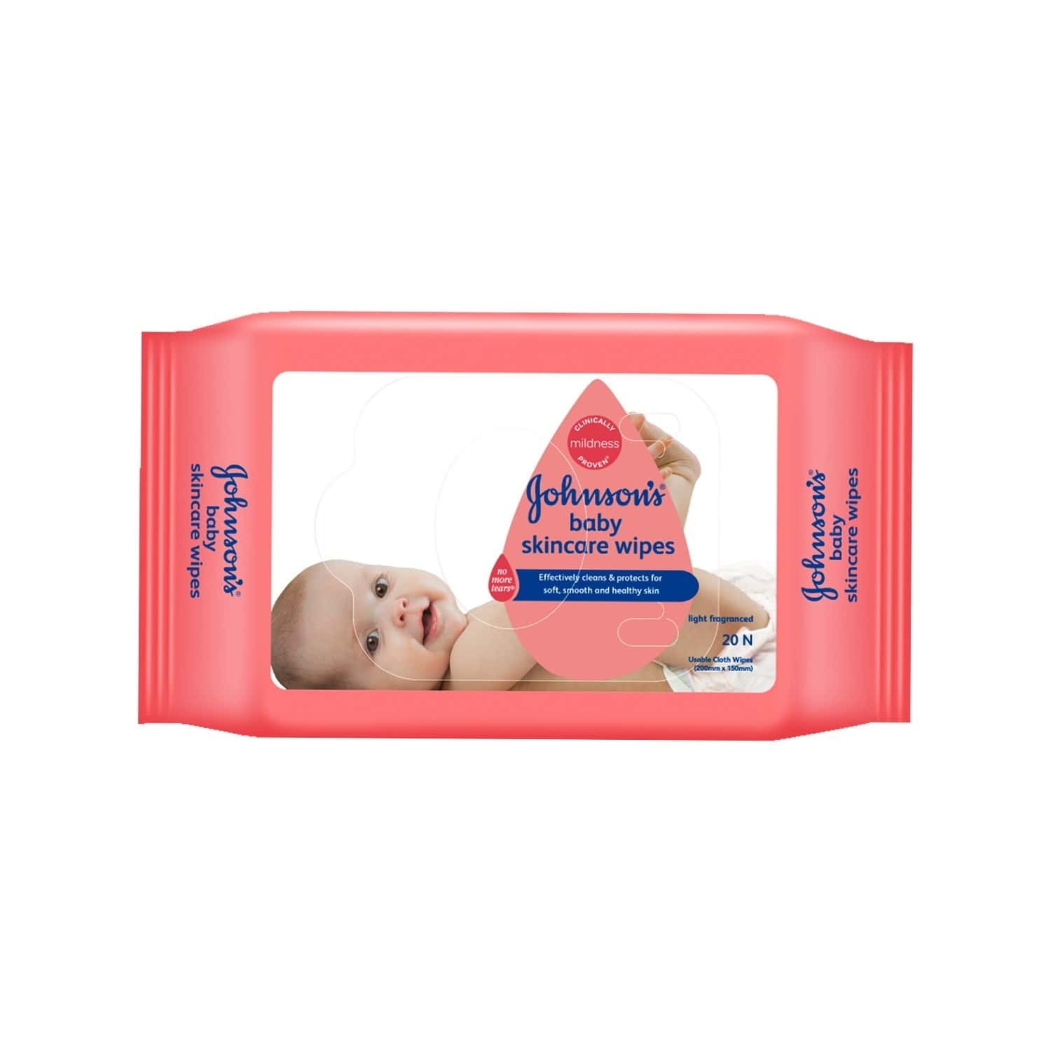 Johnson's  Baby Wipes  Packet Of 20