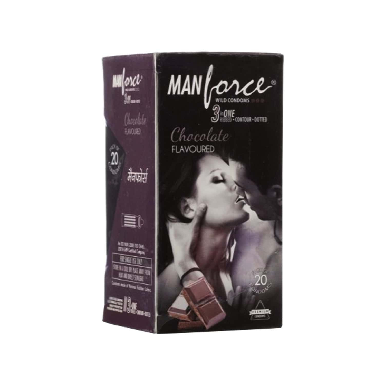 Manforce Wild Chocolate Box Of 20 Condoms