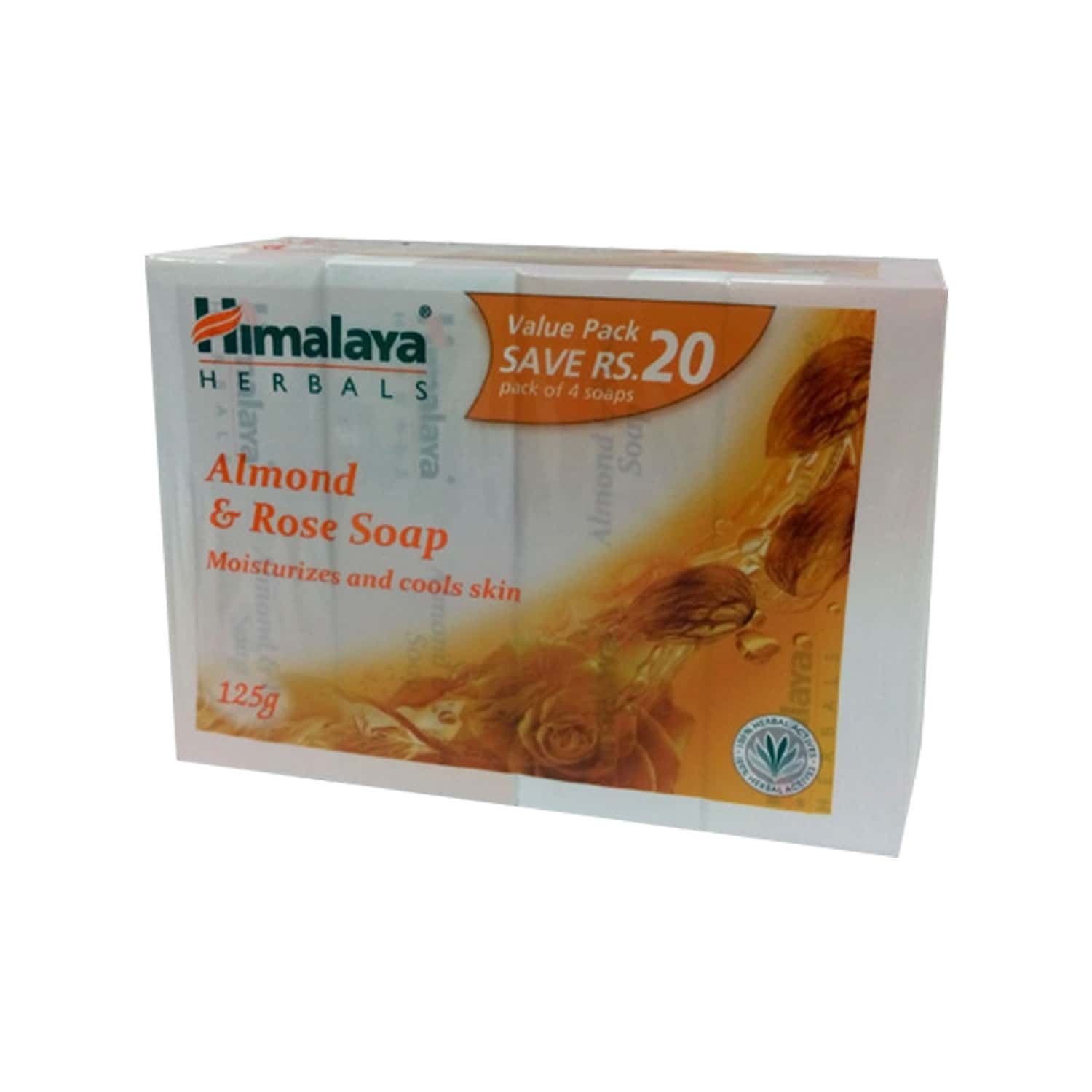 Himalaya Almond & Rose Soap 125gx4 (value Pack Save Rs.20/-)