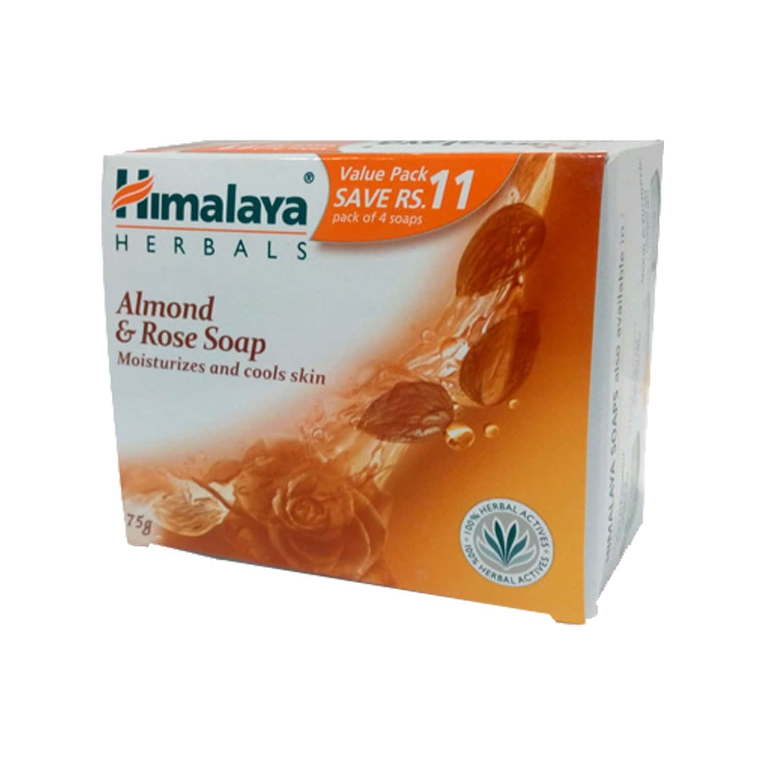 Himalaya Almond & Rose Soap 75gx4n (value Pack Save Rs.11/-)