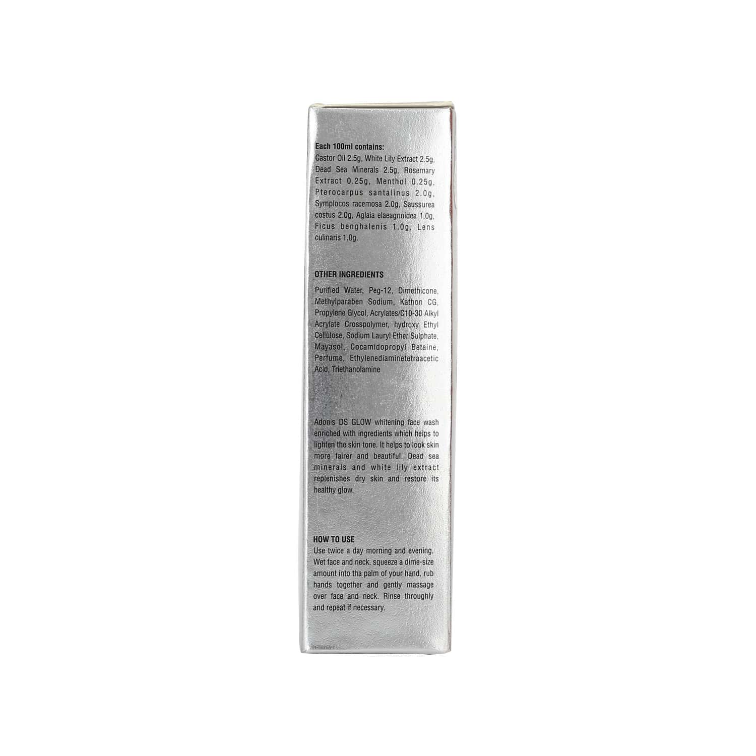 Ds Glow  Whitening Face Wash  Bottle Of 100 G