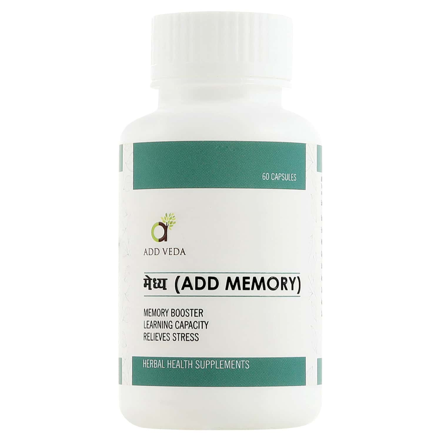 Add Memory - For Memory Booster, Learning Capacity, Relieves Stress 60 Capsules