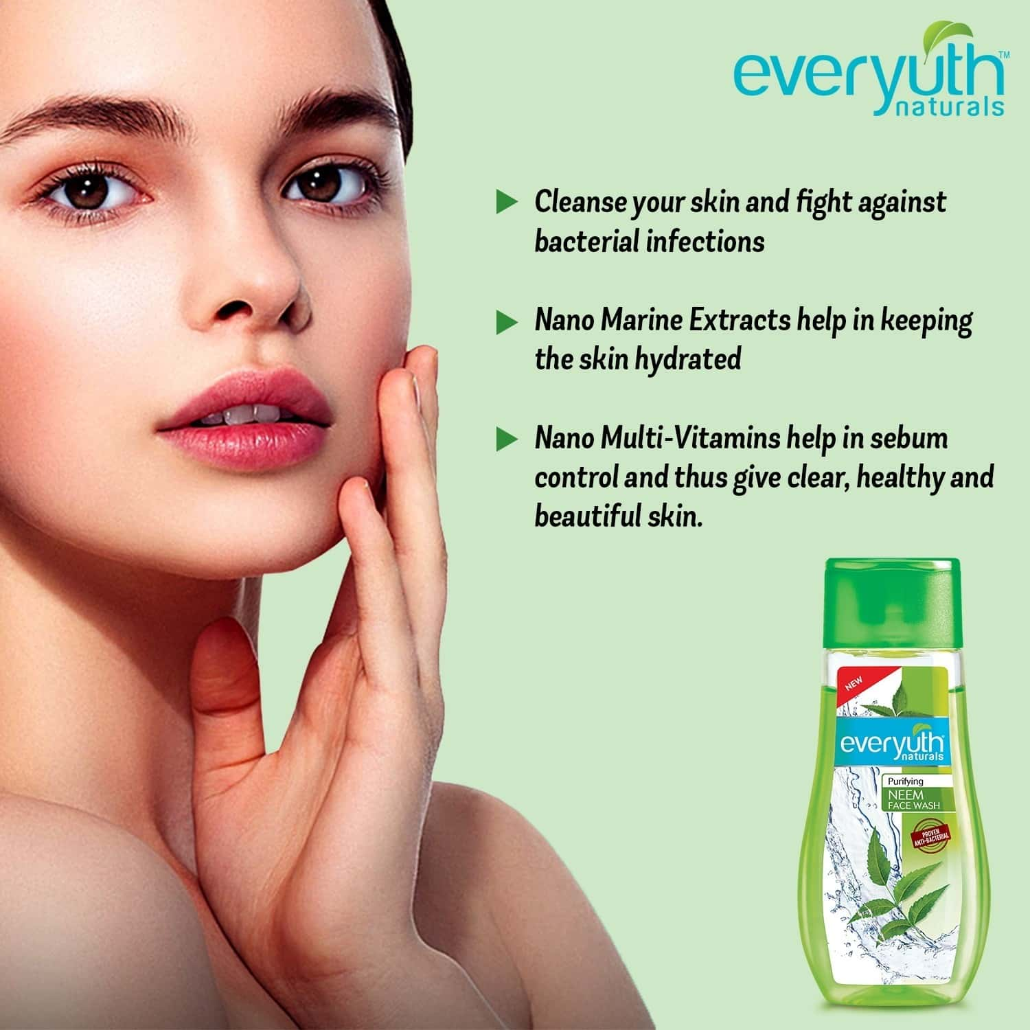 Everyuth Naturals Purifying Neem Face Wash 100 Gm