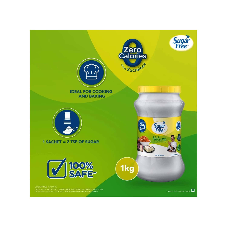 Sugar Free Natura Sugar Substitute Powder Low Calorie Jar Of 1 Kg