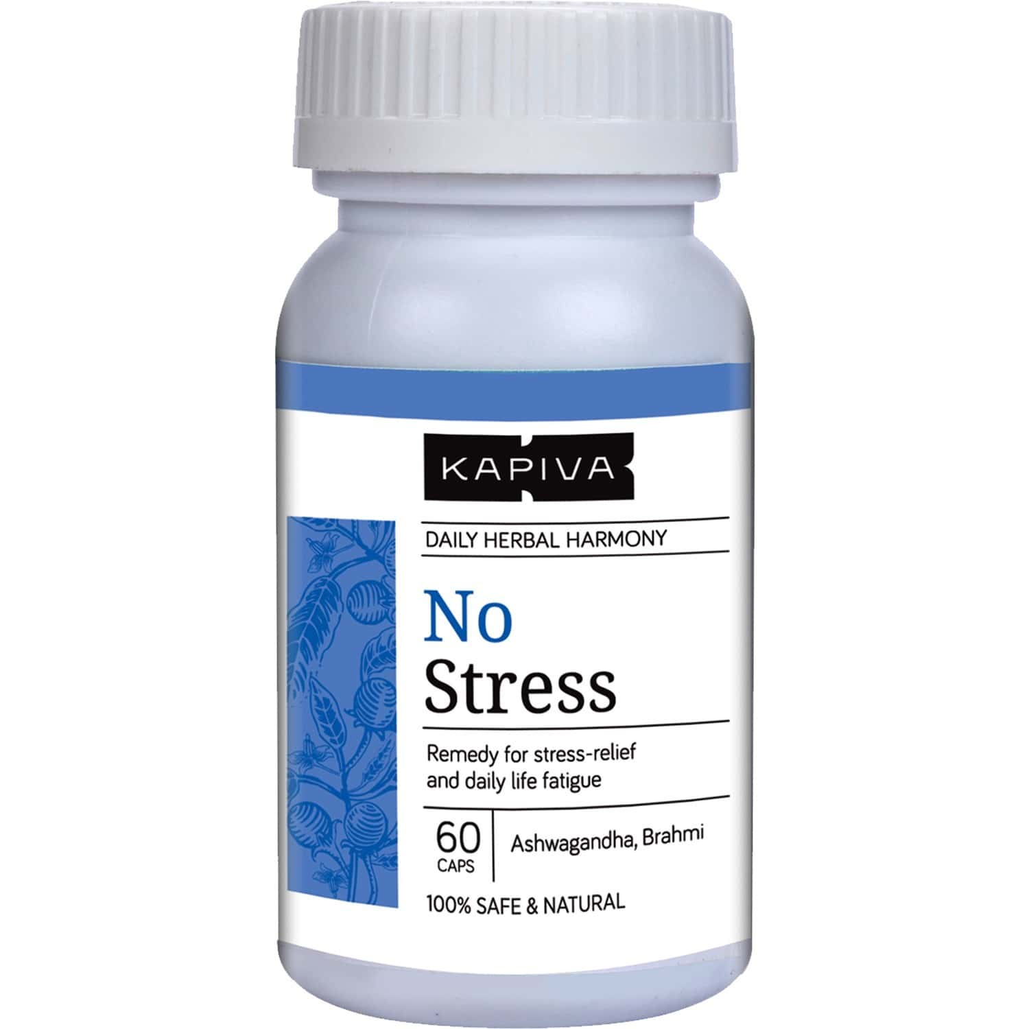 Kapiva No Stress Capsules - Helps Relieve Stress Fatigue And Tension 60 Capsules