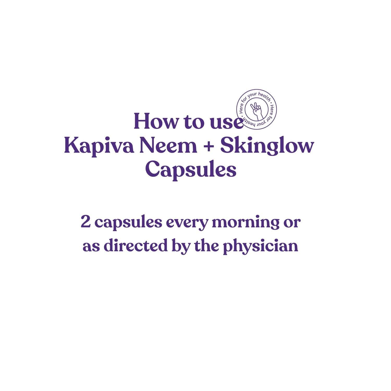 Kapiva Neem + Skin Glow Immunity Booster Capsules Bottle Of 60