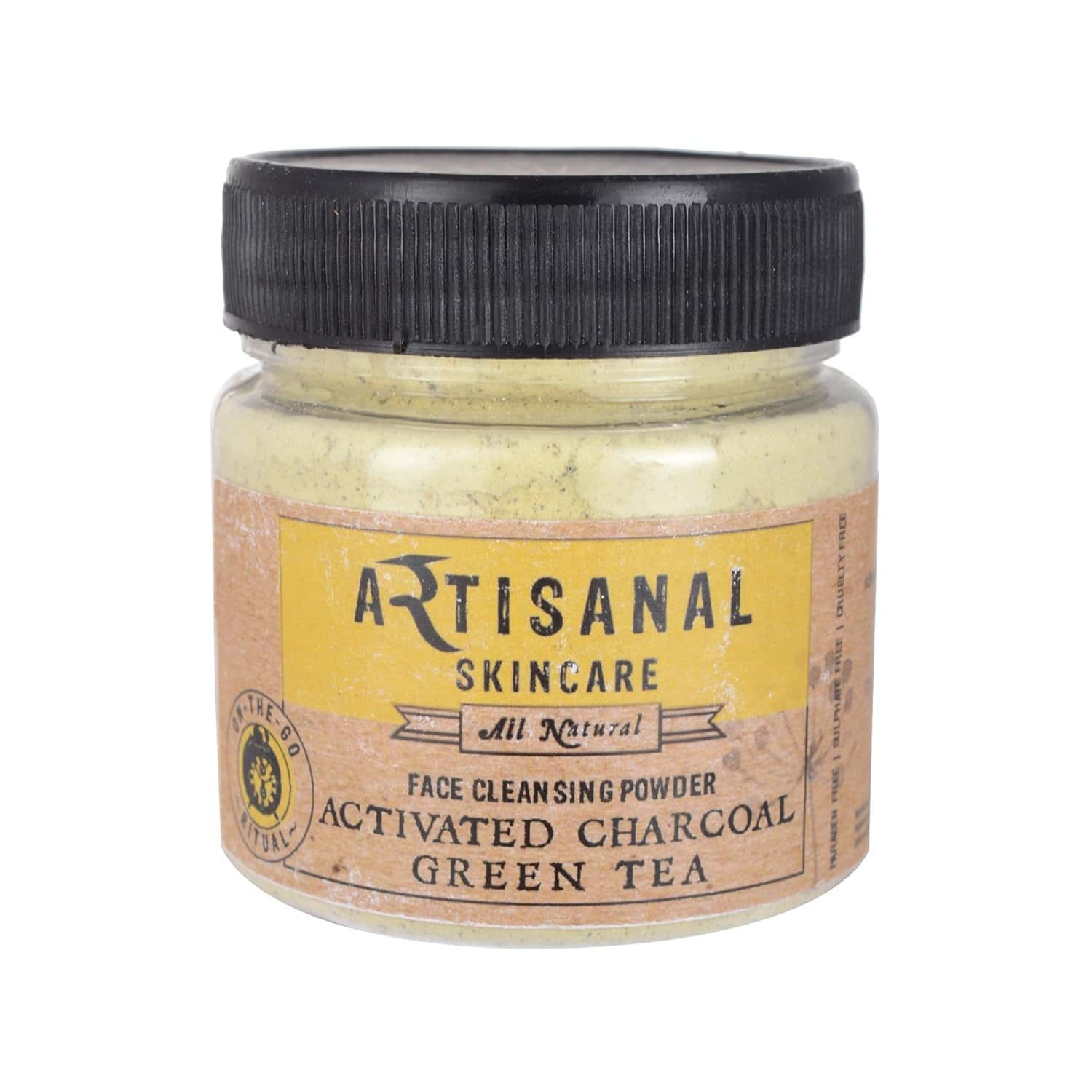 Artisanal Skincare Activated Charcoal & Green Tea Face Cleansing Powder, 100 Gm