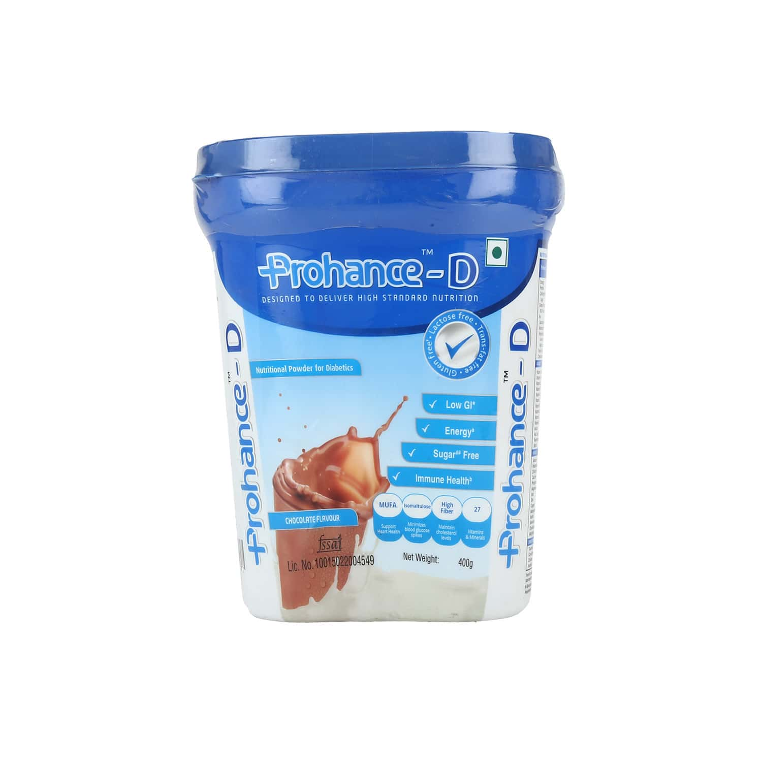 Prohance D Chocolate Diabetes Care Powder Sugar Free Bottle Of 400 G
