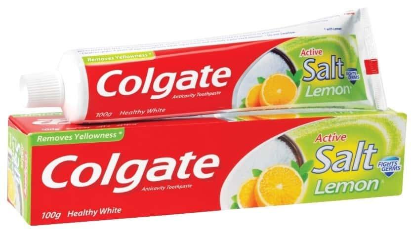 Colgate Toothpaste - Active Salt Lemon- 100 G