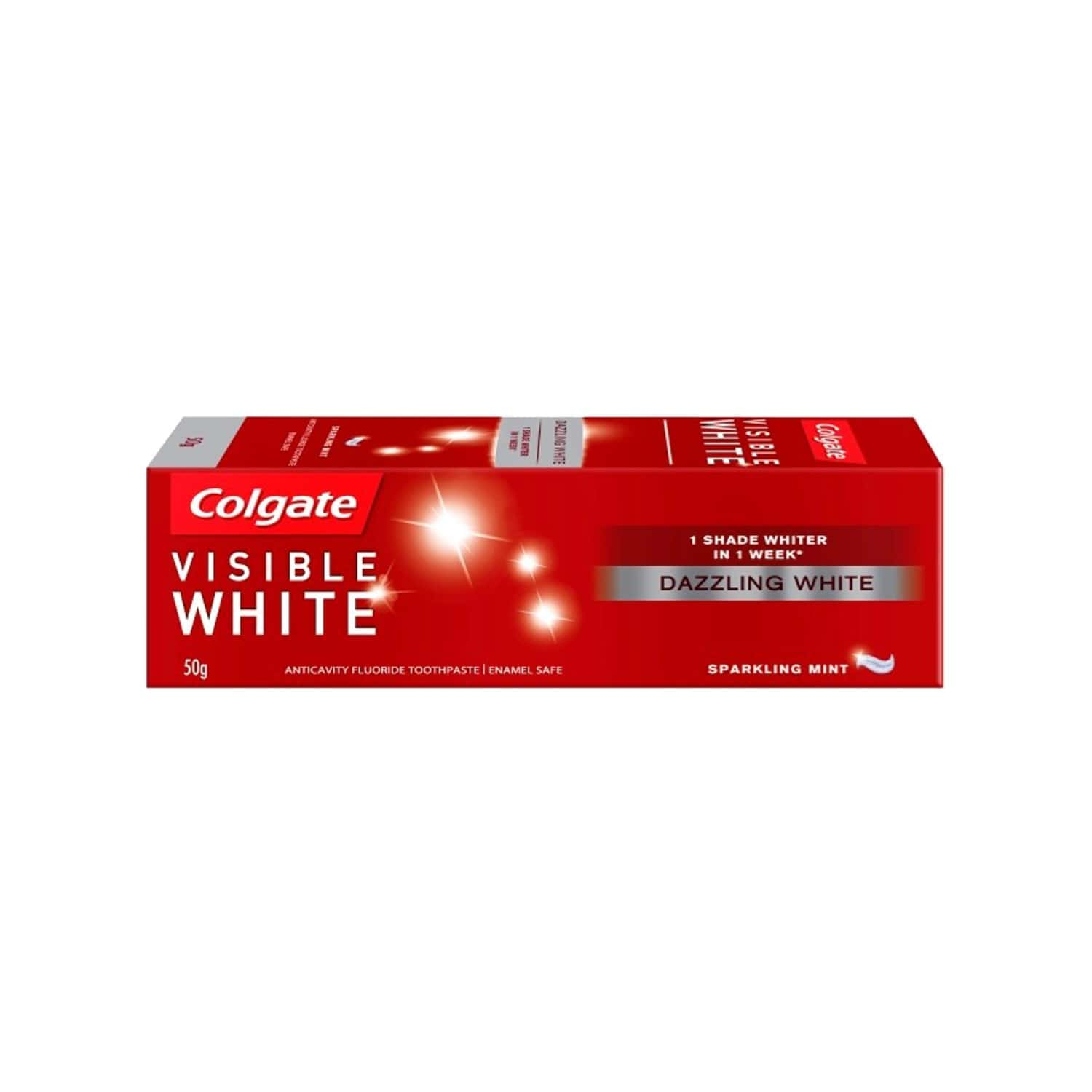 Colgate Toothpaste - Visible White -sparkling Mint - 50 G - Whitening