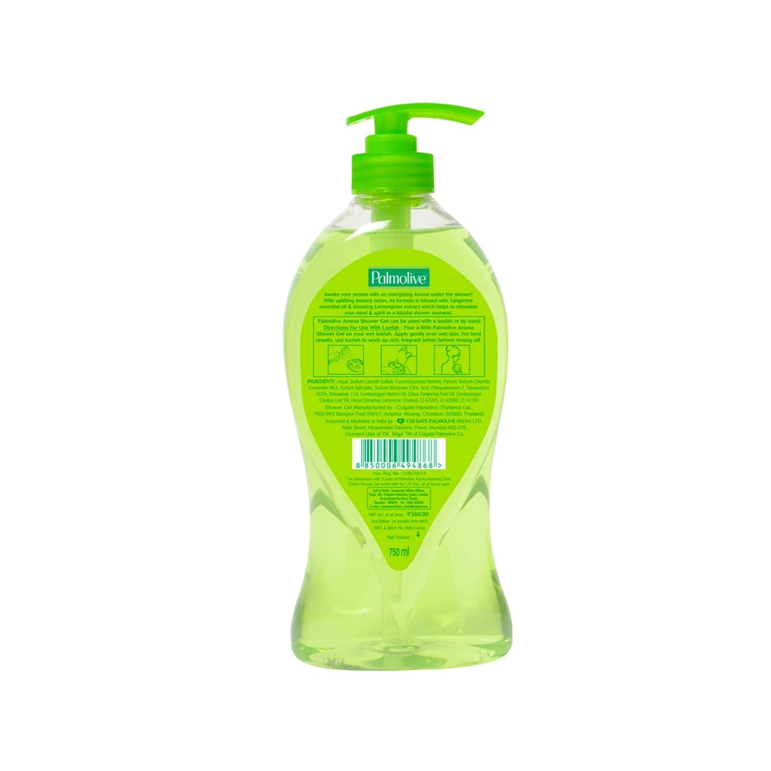Palmolive Bodywash - Aroma Therapy - 750 Ml Morning Tonic Imported Shower Gel