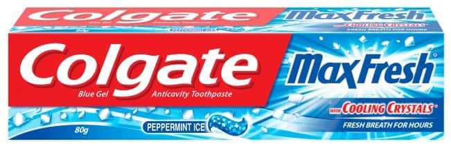 Colgate Toothpaste - Maxfresh Peppermint Ice - 80 G - Blue Gel