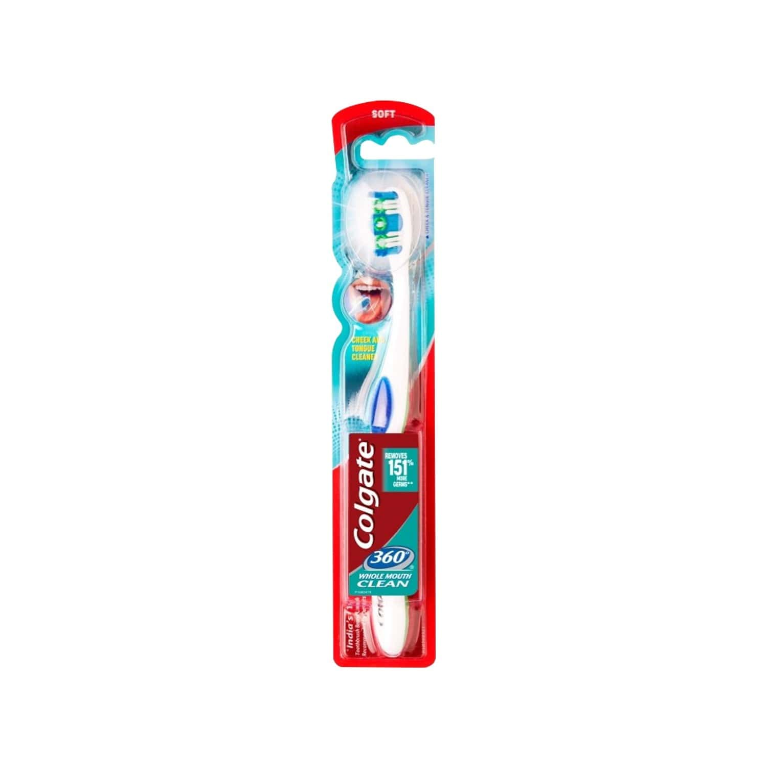 Colgate  Toothbrush 360 Whole Mouth Clean - Soft