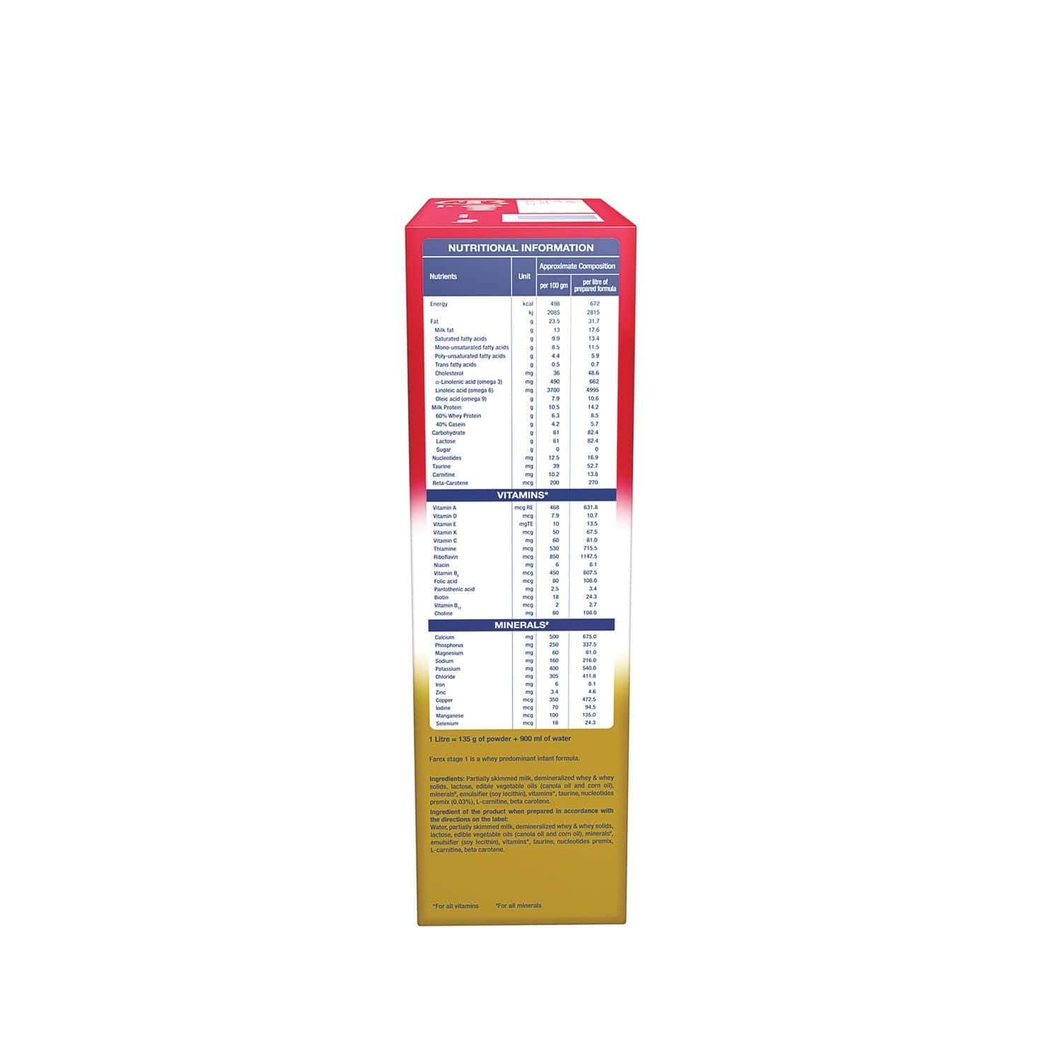 Farex Baby Food Stage 1 Infant Formula Refill Of 400 G
