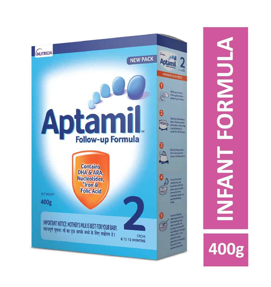Aptamil Stage 2 Follow Up Formula Powder - 400gm Refill