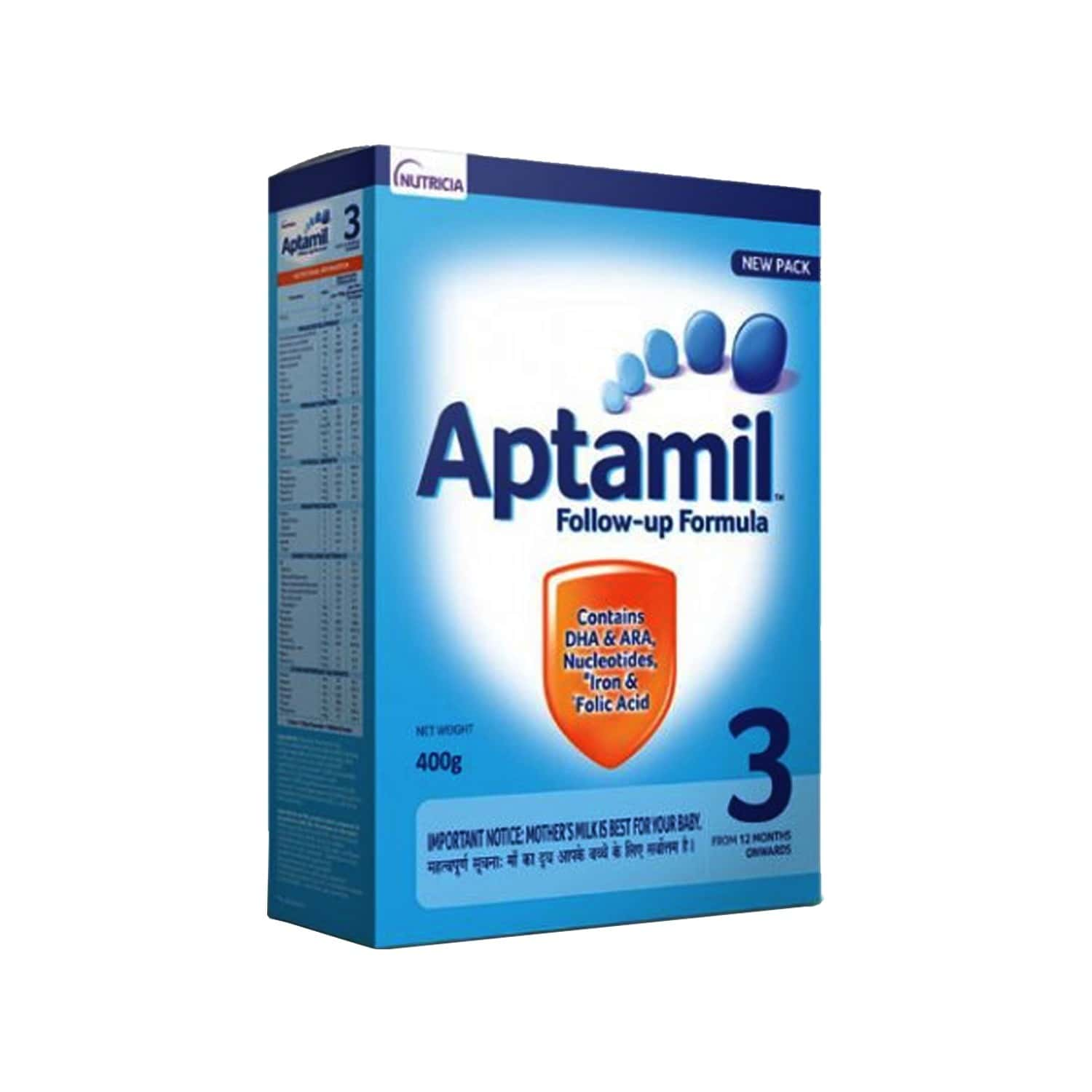 Aptamil Baby Food Stage 3 Follow-up Formula Box Of 400 G