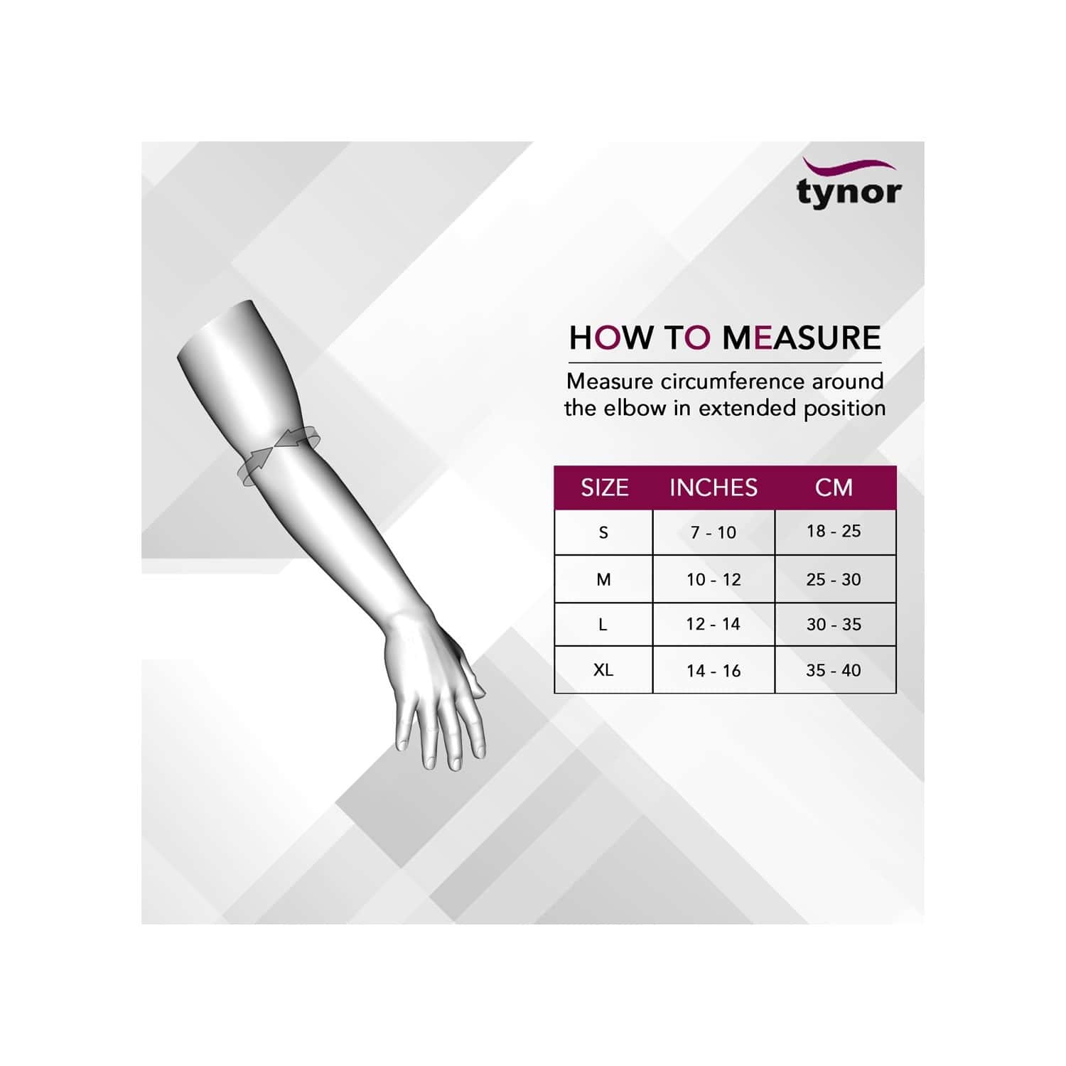 Tynor Elbow Support ( Compression,pain Relief) - Medium