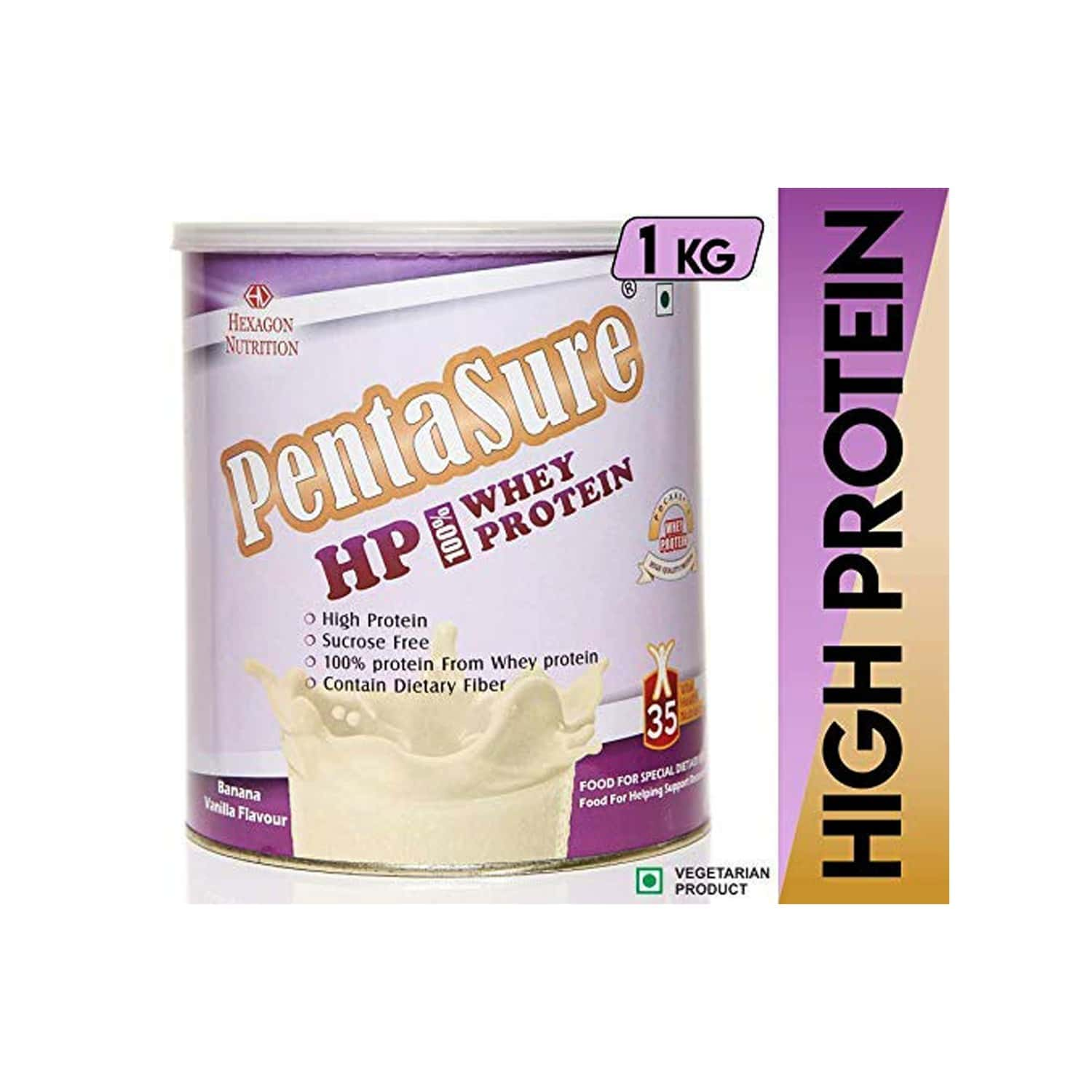 Pentasure Hp Banana Vanilla Whey Protein Tin Of 1 Kg
