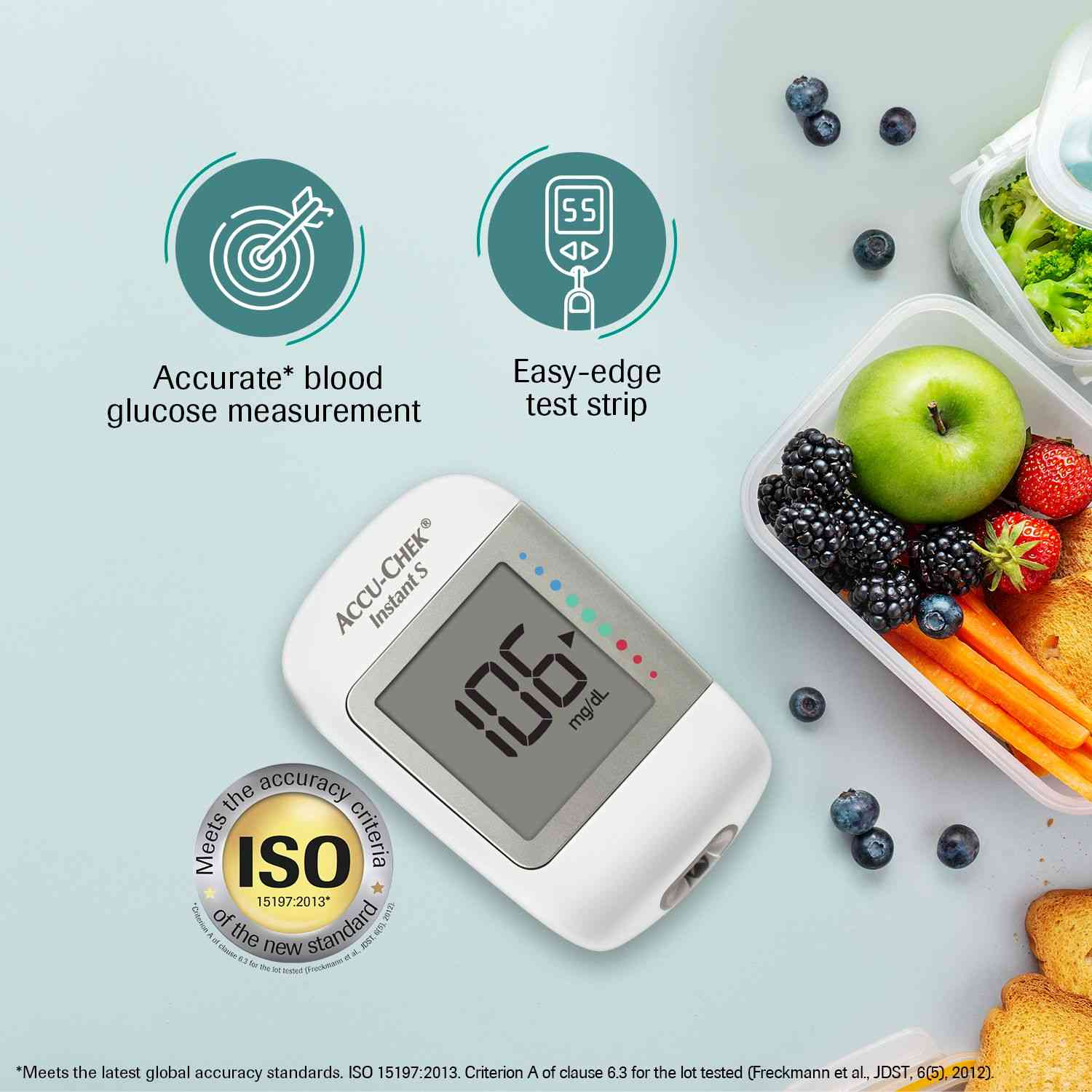 Accu-chek Instant S Glucometer Kit (with Free 10 Strips)