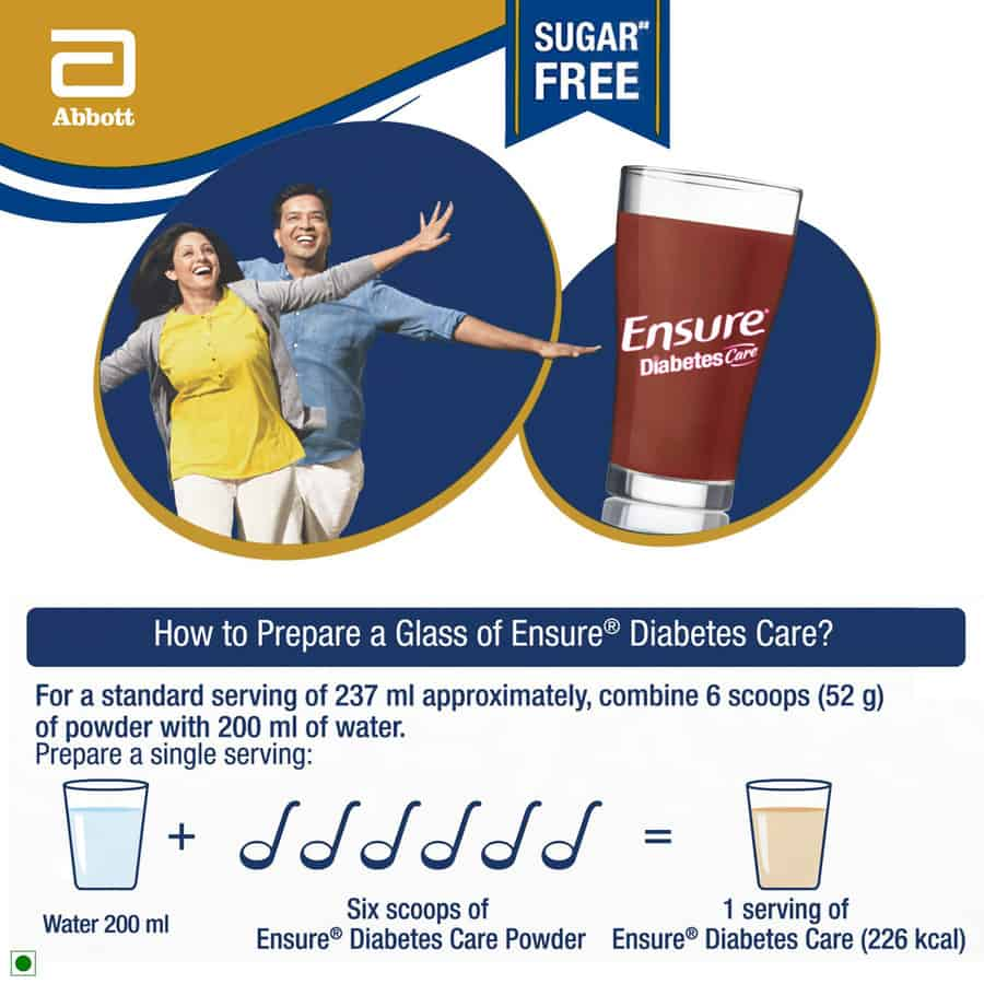 Ensure Diabetes Care Chocolate Sugar Free Refill - 200gm