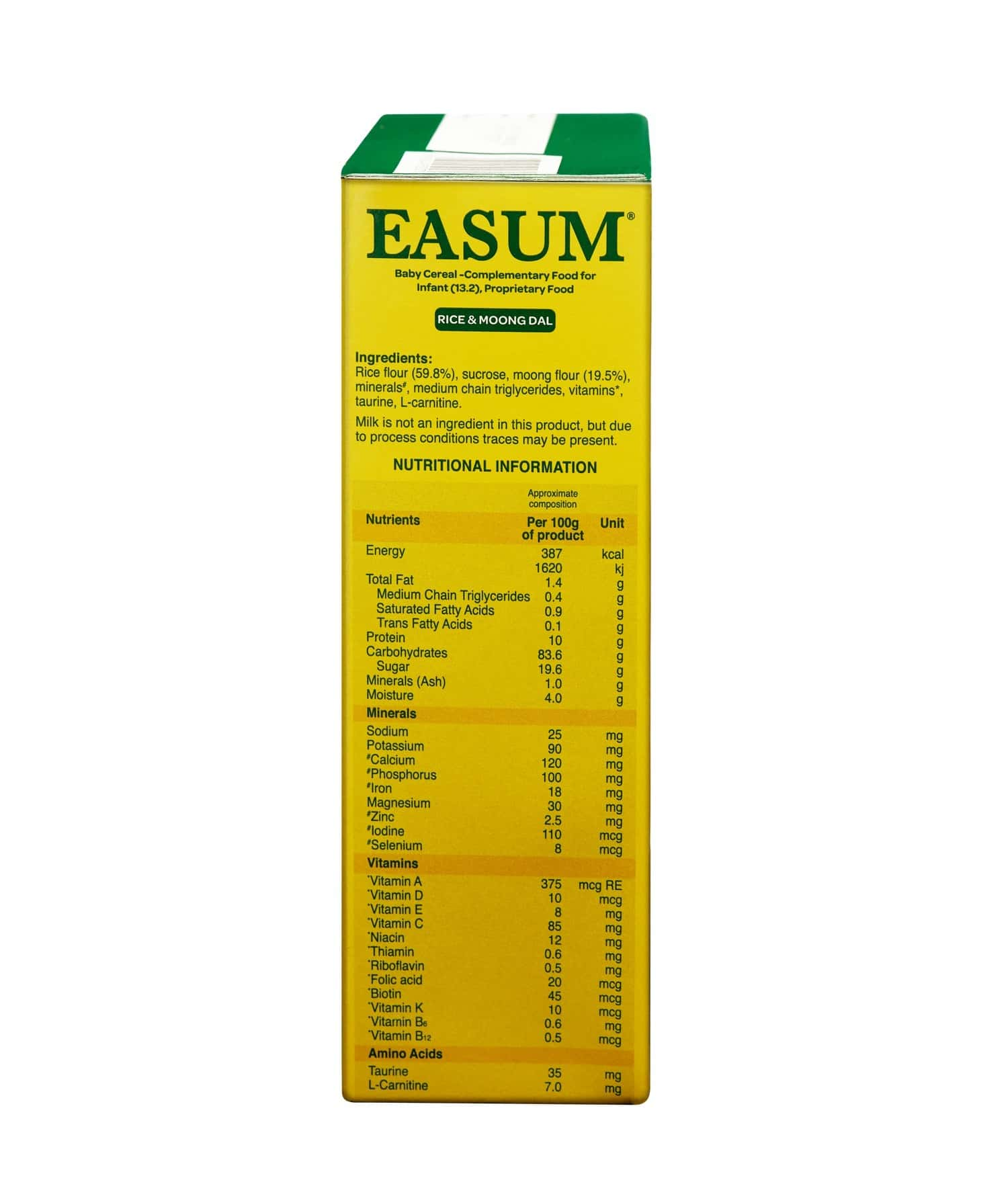 Easum Baby Cereal Baby Food Bottle Of 400 G