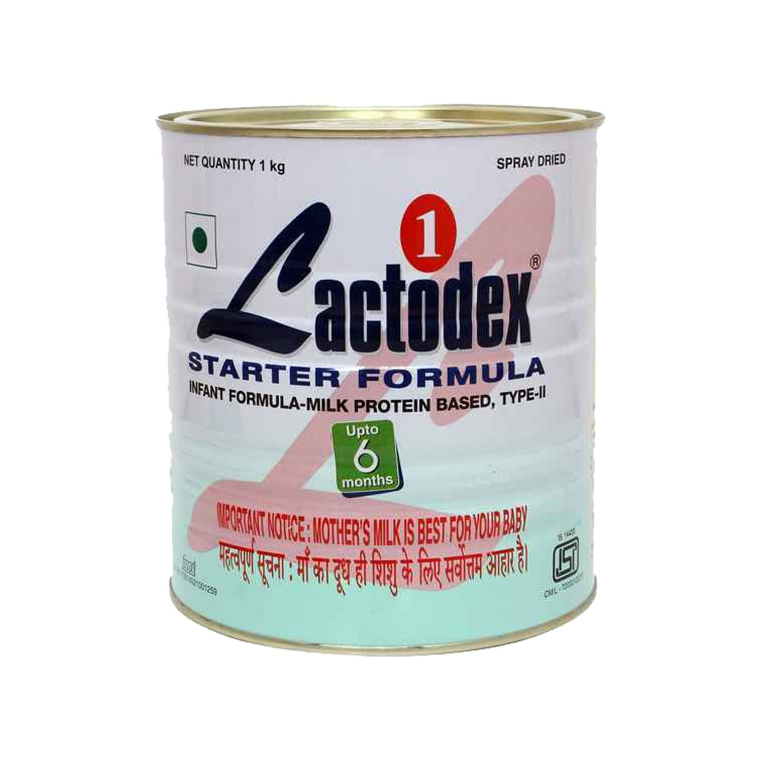Lactodex Starter 1 Baby Food Powder Tin Of 1 Kg
