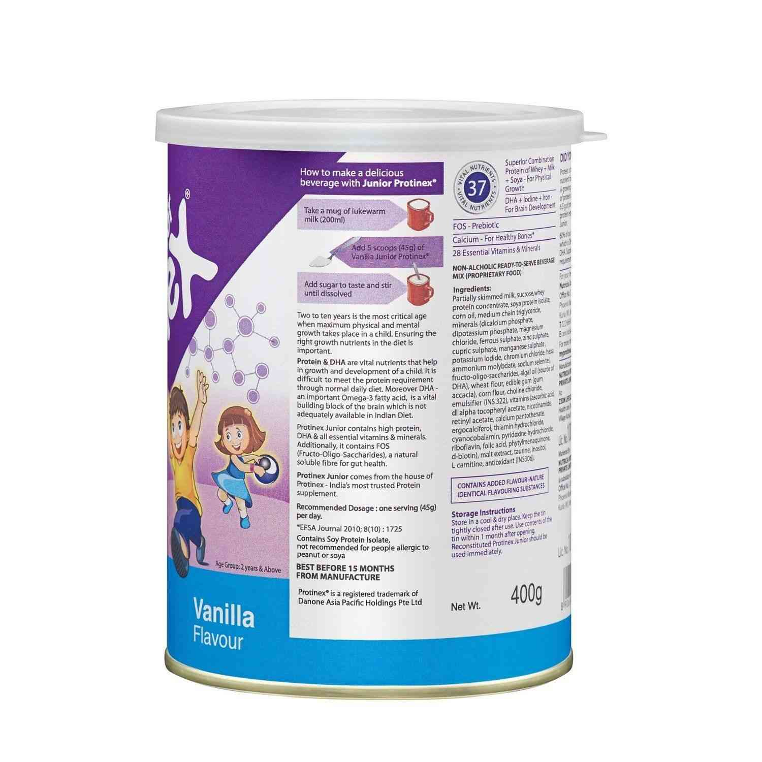 Protinex Junior Vanilla Child Nutrition Drink  Tin Of 400 G