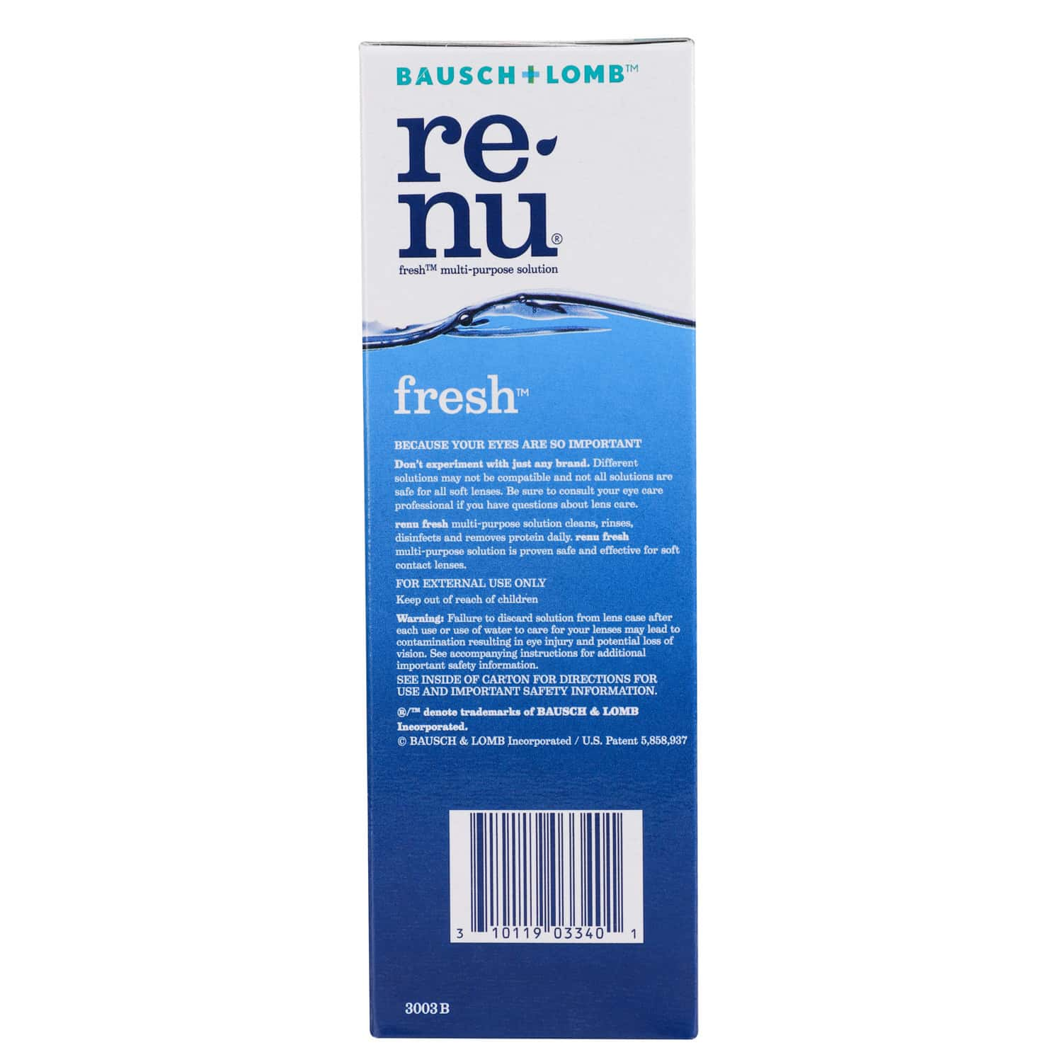 Bausch & Lomb Renu Fresh Multi Purpose Solution - 120ml