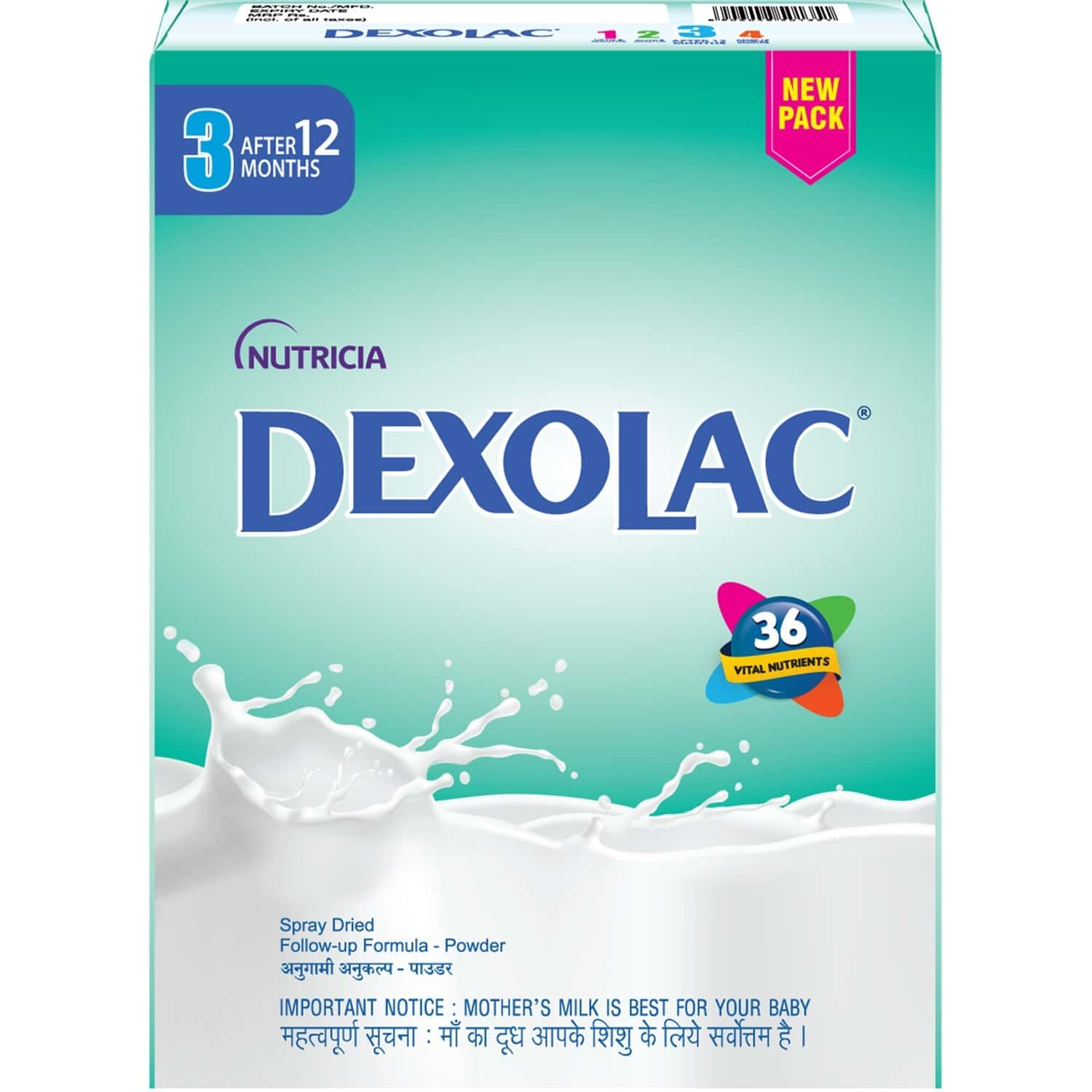 Dexolac Baby Food Stage 3 Follow-up Formula (after 12 Months) Box Of 400 G