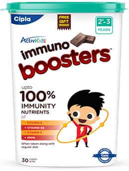 Cipla Activkids Immuno Boosters 2-3years - 30s