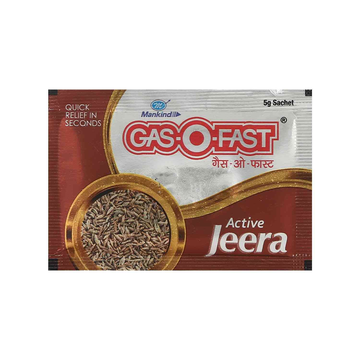 Gas O Fast Active Jeera Antacid  Sachet Of 5 G