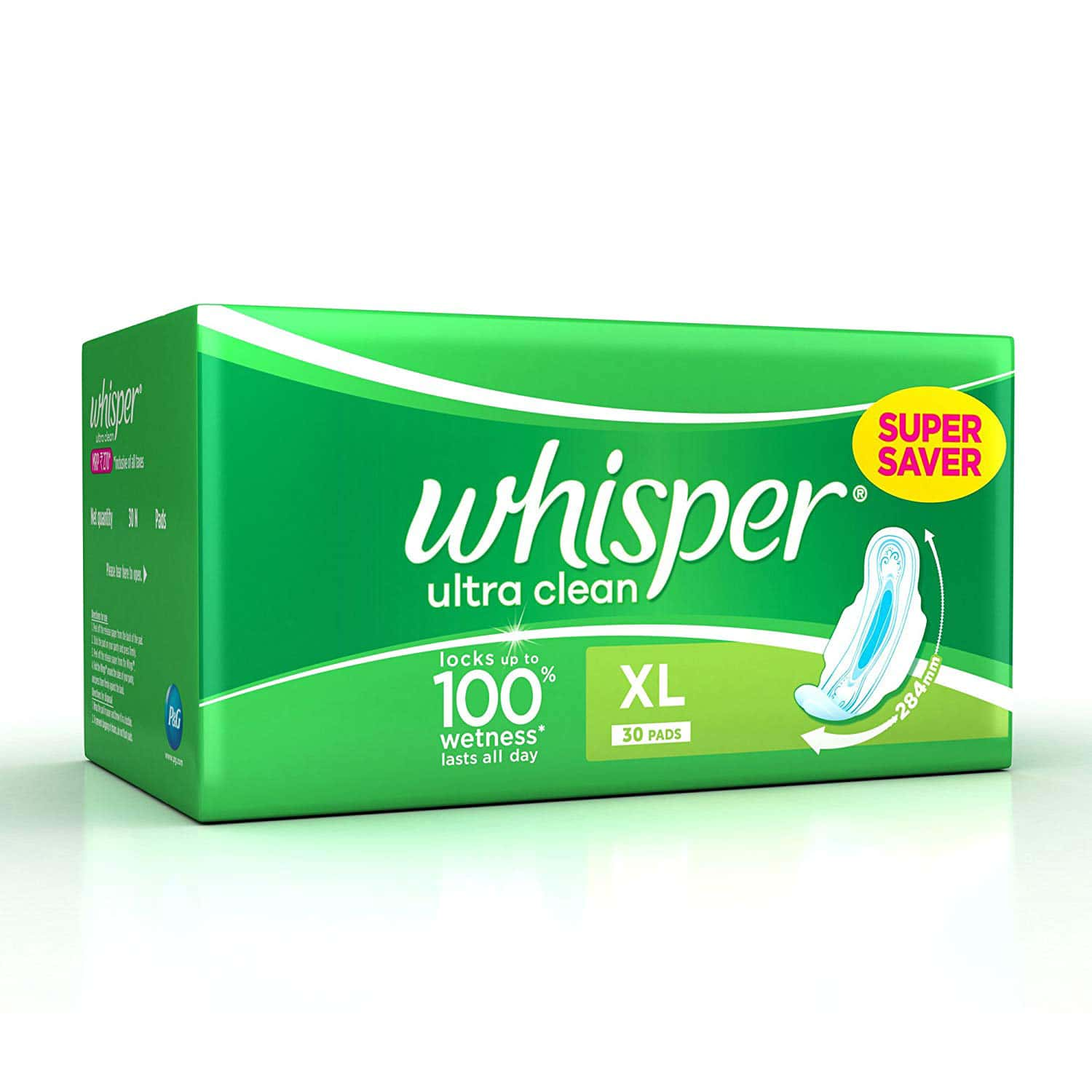 Whisper Ultra Clean Size Xl Sanitary Pads Packet Of 30