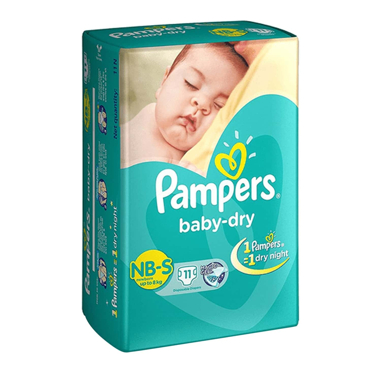 Pampers New Born Small Diapers 11's