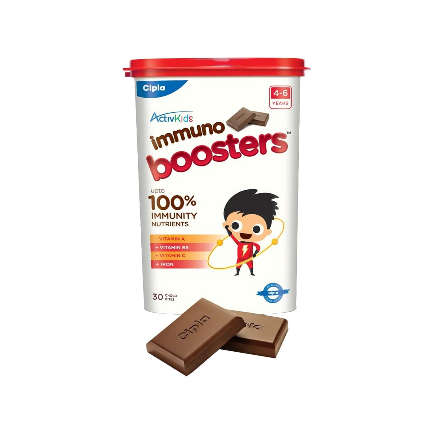 Cipla Activkids Immuno Boosters Nutrition Bar 4-6 Years Container Of 30 's