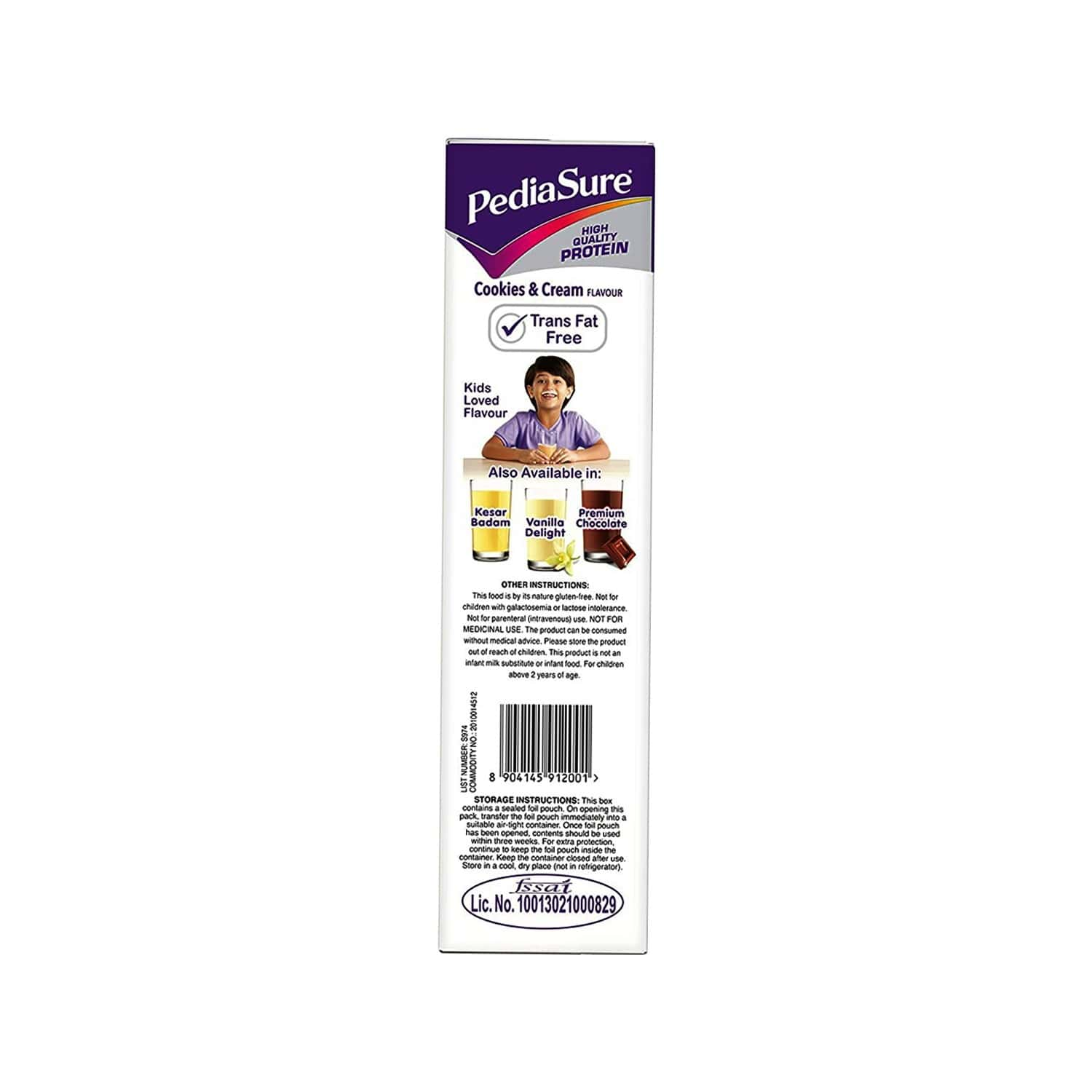Pediasure Cookies & Cream Child Nutrition Drink Refill Of 400 G