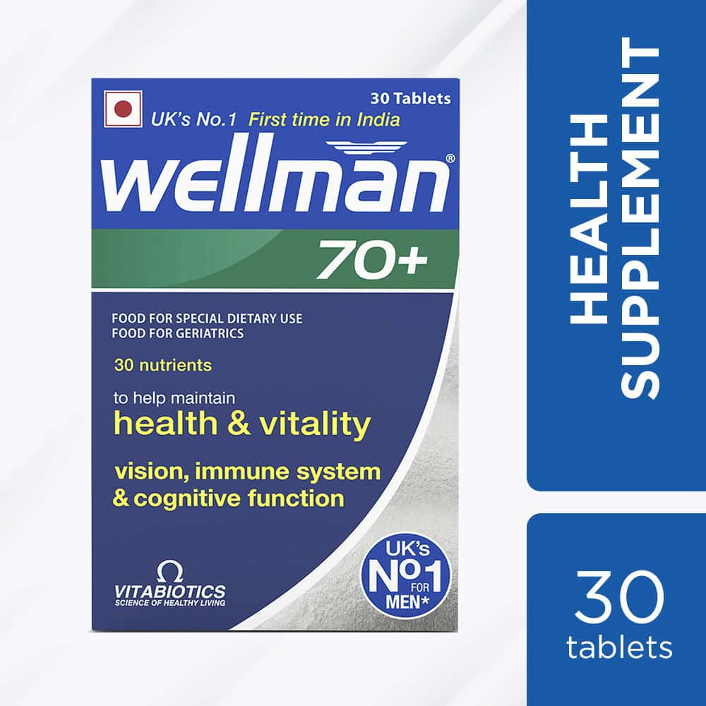 Wellman 70+  Health Supplement Tablets  Bottle Of 30