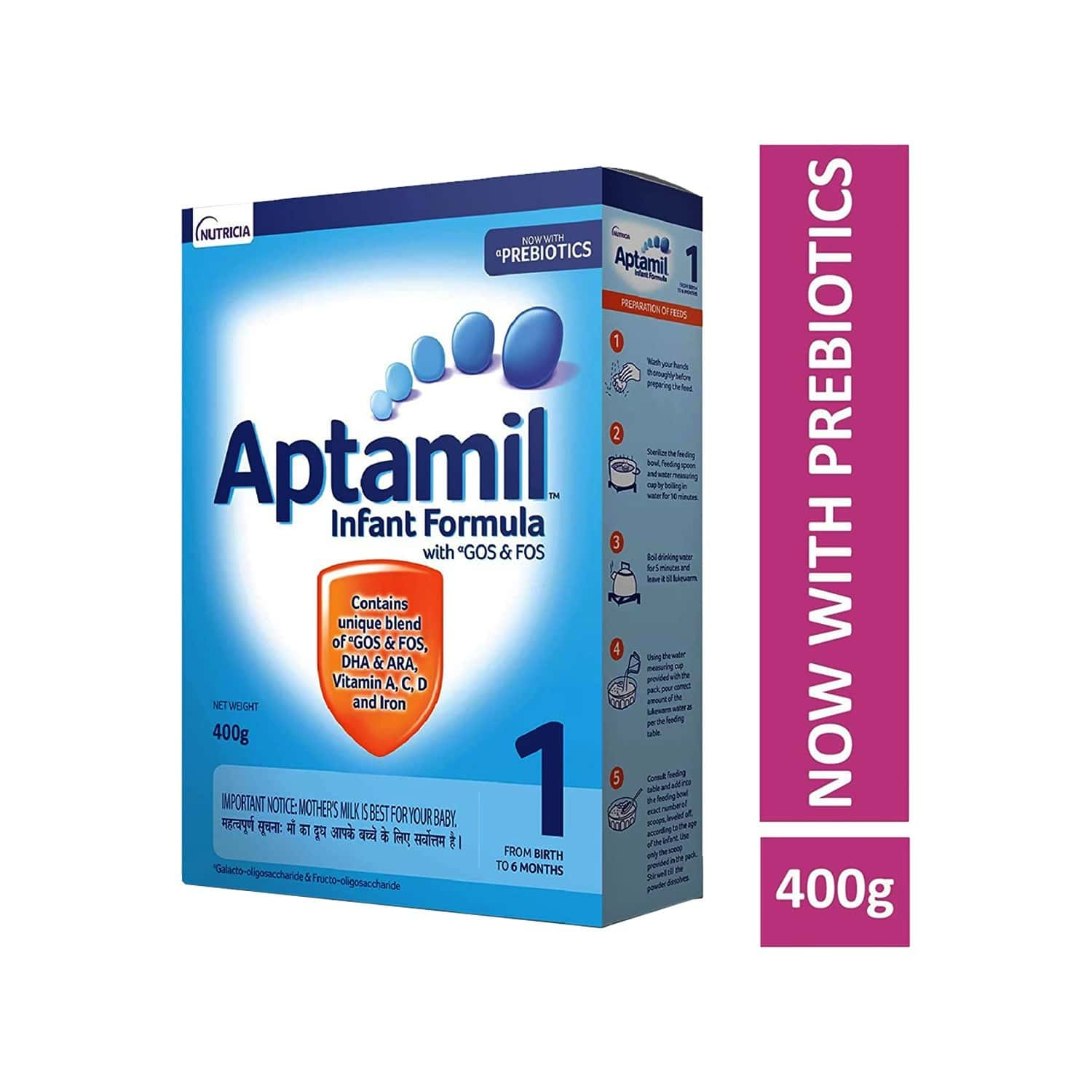 Aptamil Baby Food Stage 1 Infant Formula Box Of 400 G