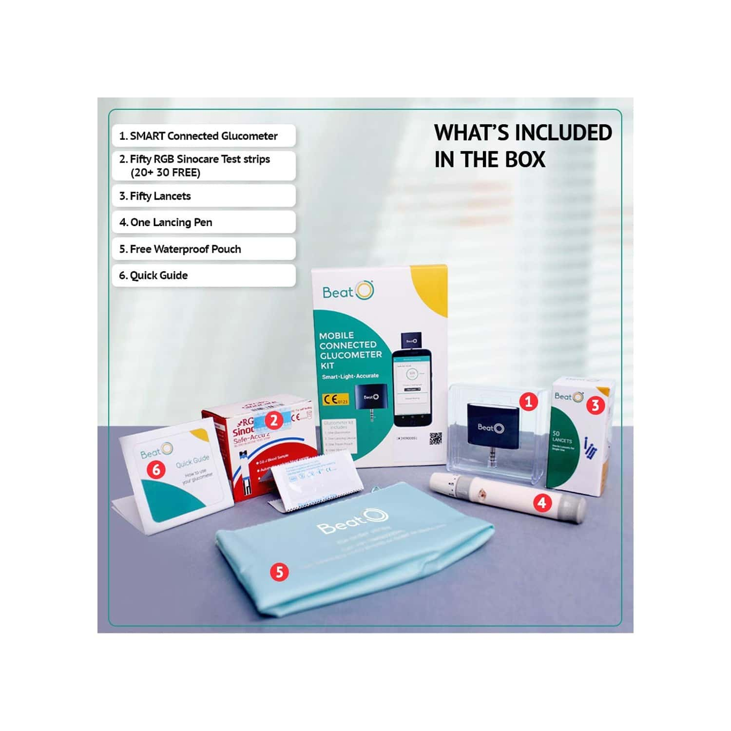 Beato Smart Glucometer Kit (with Free 20 Strips)