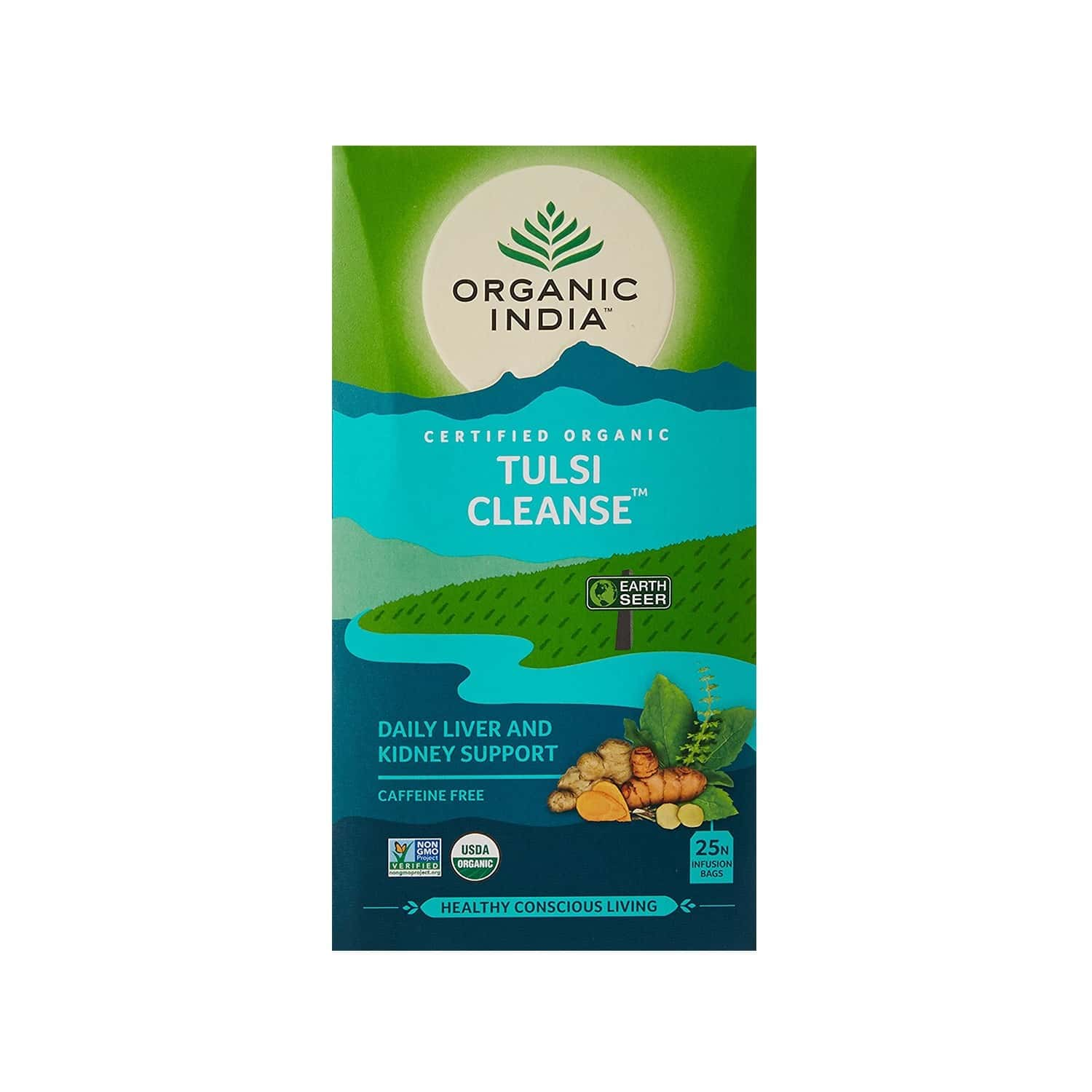 Organic India Tulsi Cleanse Tea Bag 25's