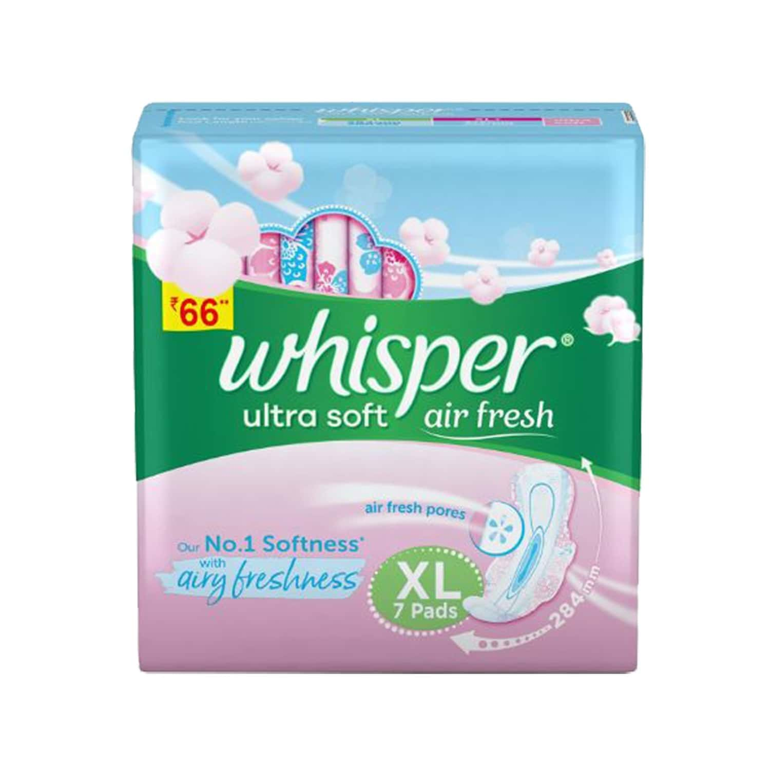 Whisper Ultra Soft Xl Sanitary Pads, 7 Count