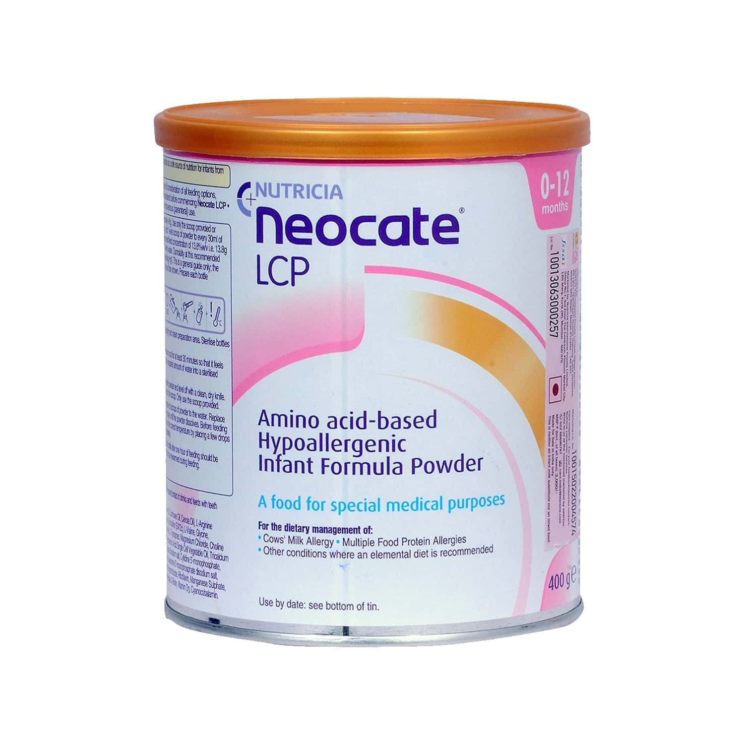 Neocate Lcp Baby Food Tin Of 400 G