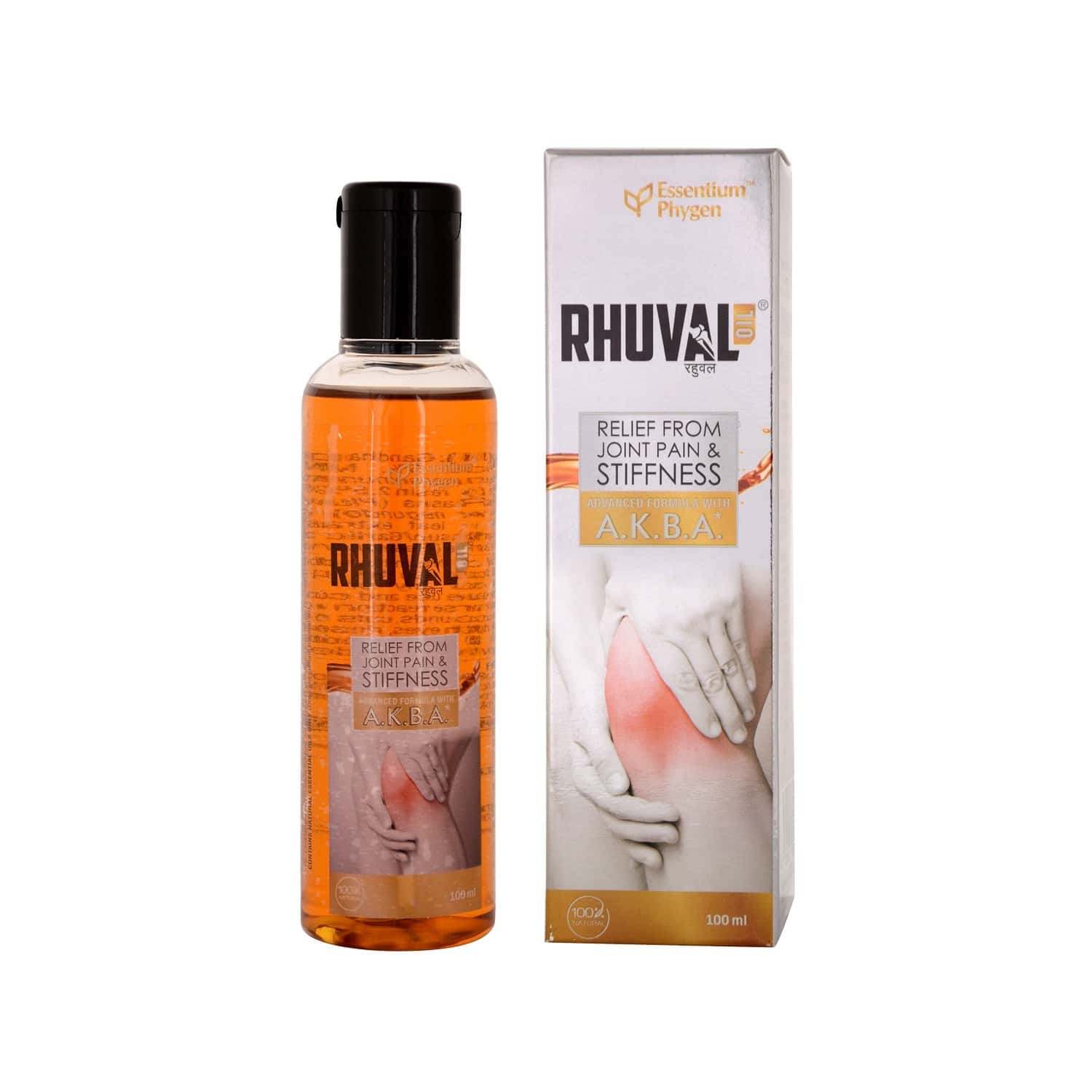 Rhuval Oil With A.k.b.a For Joint Pain Relief (100 Ml)