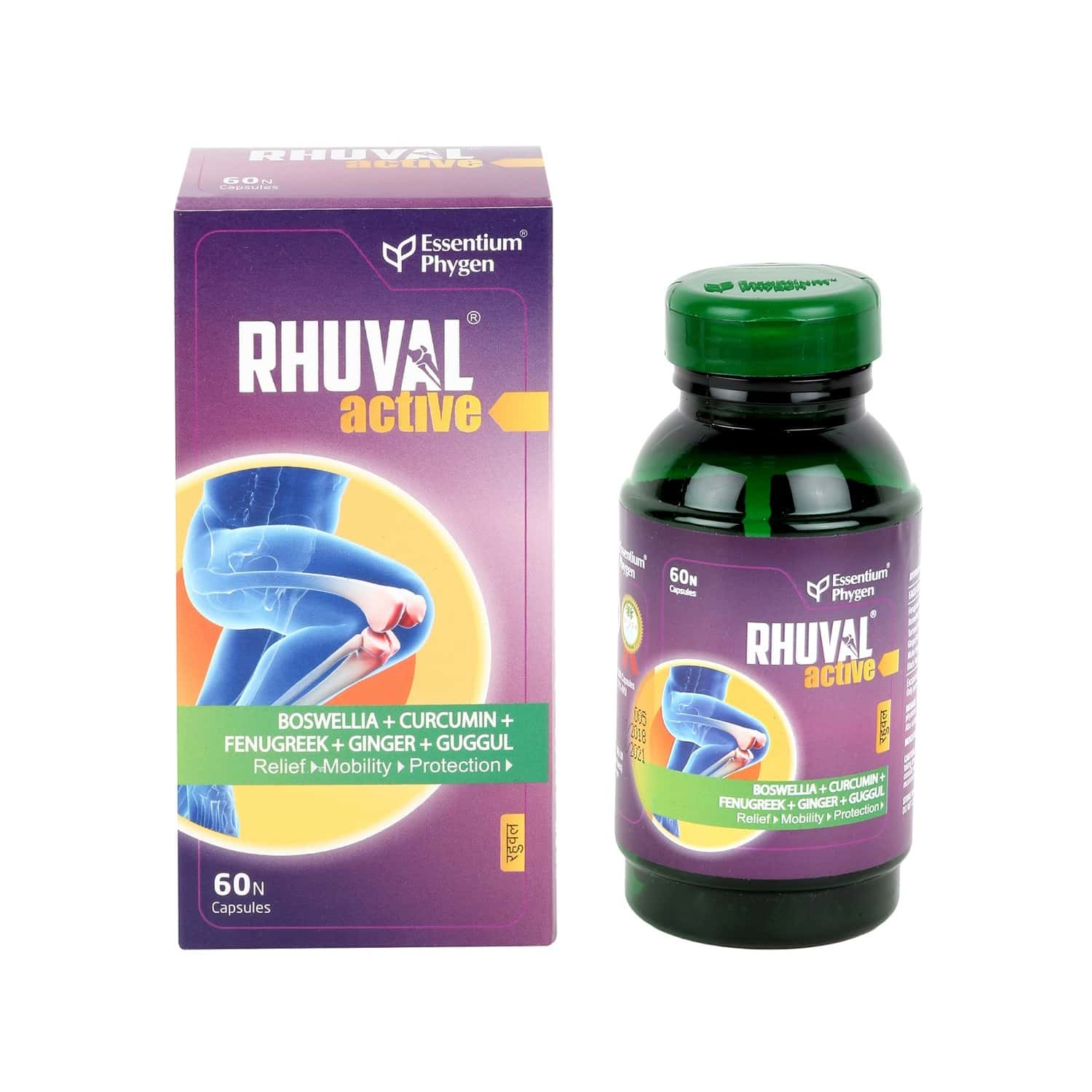 Rhuval Active Capsules For Inflammation & Joint Pain Relief (60)