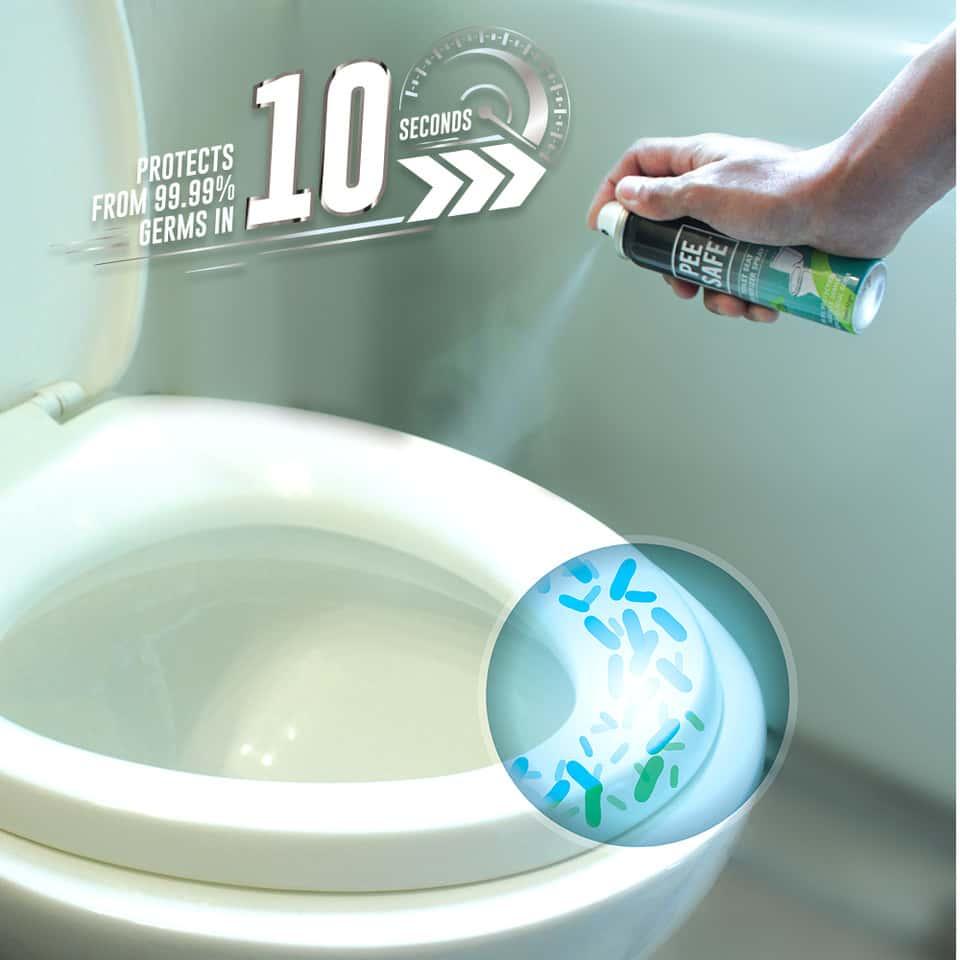 Pee Safe Mint Toilet Seat Sanitizer Travel Pack Bottle Of 50 Ml