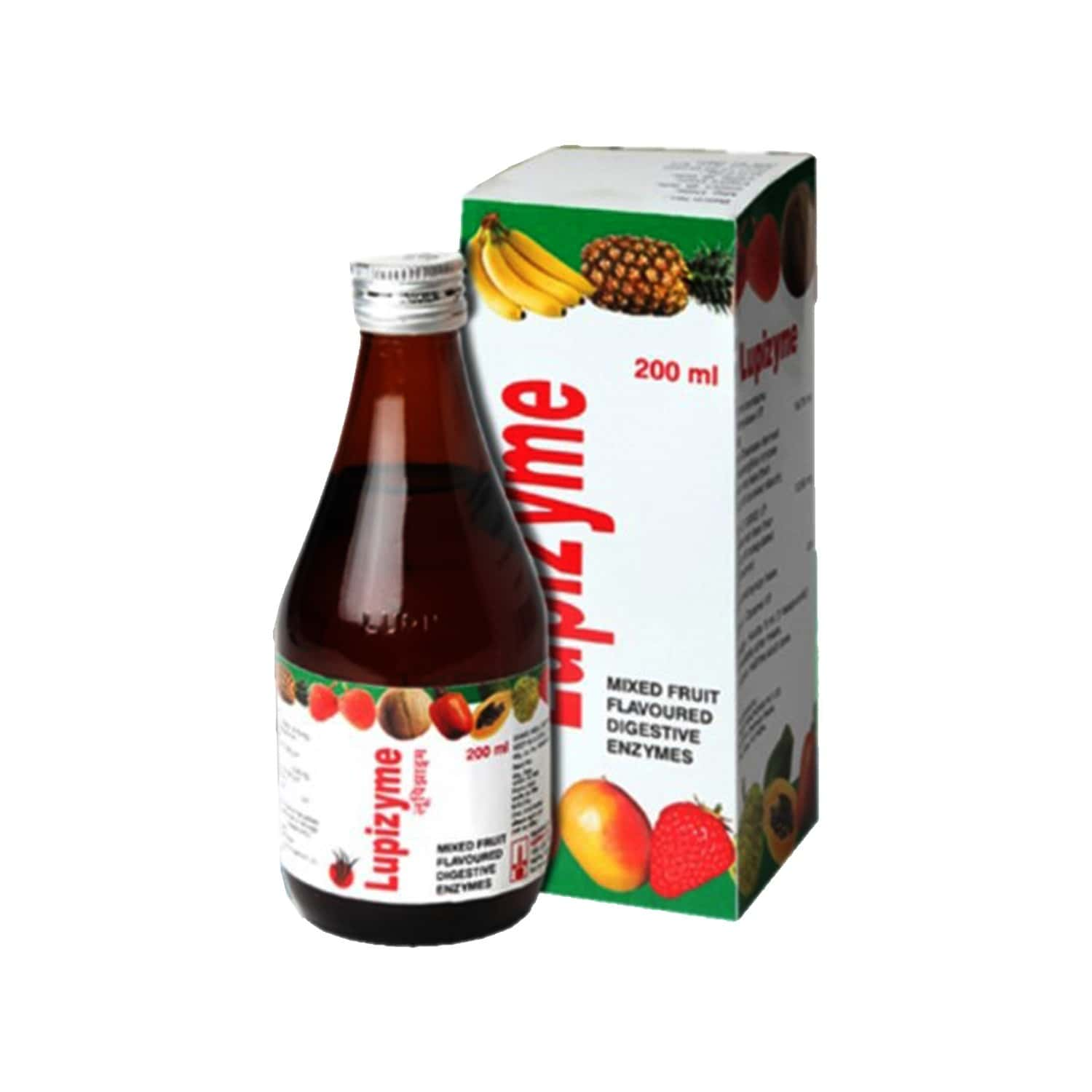 Lupizyme Plus Mixed Fruit Flavour Syrup Of 200ml