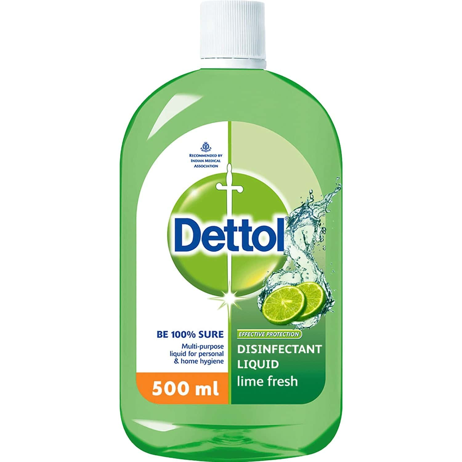 Dettol Liquid Disinfectant For Floor Cleaner, Surface Disinfection Personal Hygiene Lime Fresh 500ml