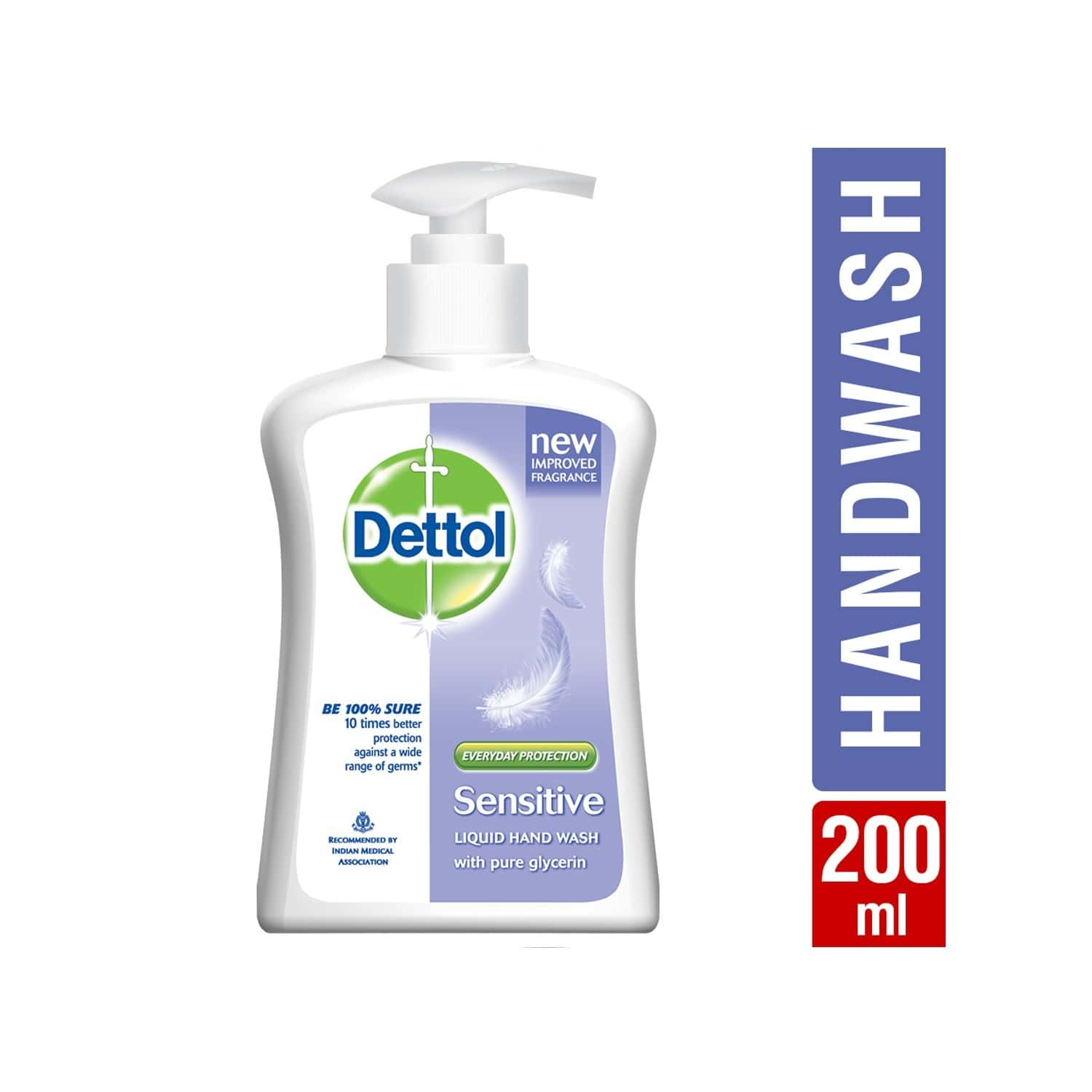 Dettol Ph-balanced Sensitive Handwash Bottle Of 200 Ml
