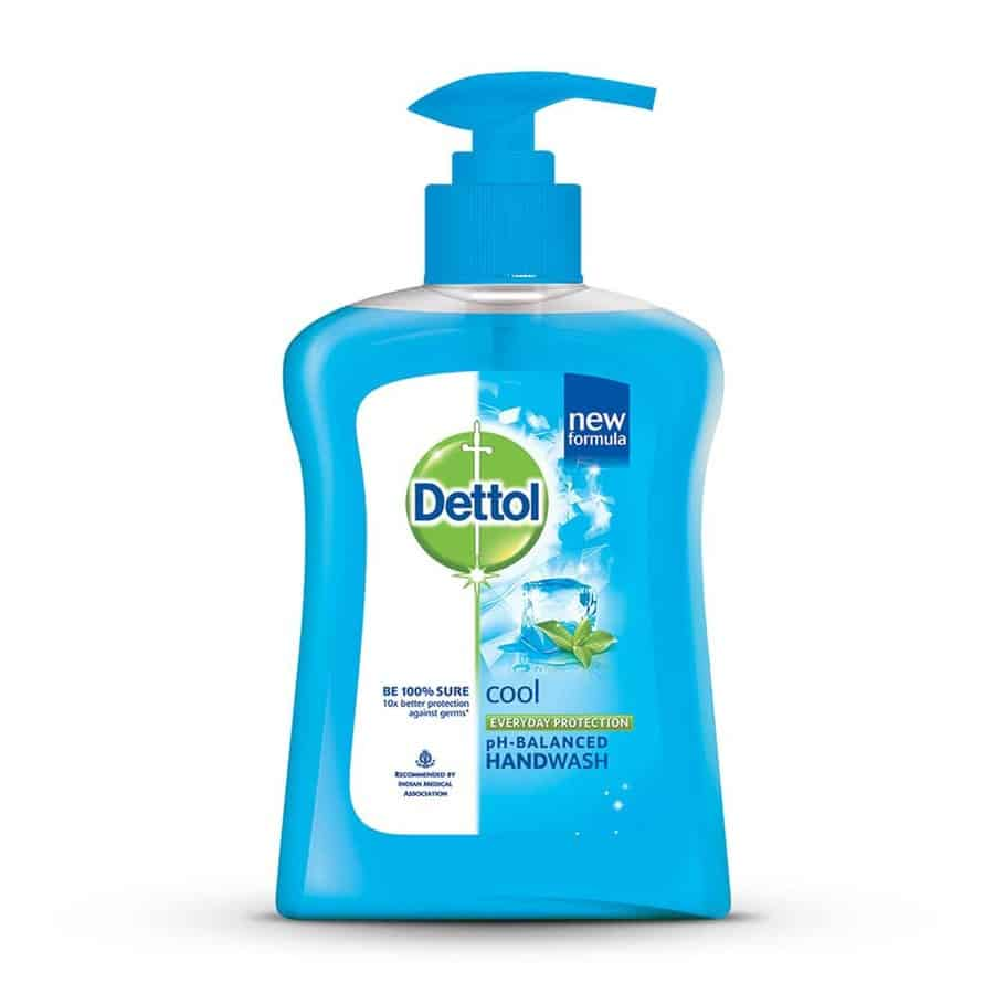 Dettol Ph-balanced Liquid Handwash Pump, Cool- 200 Ml